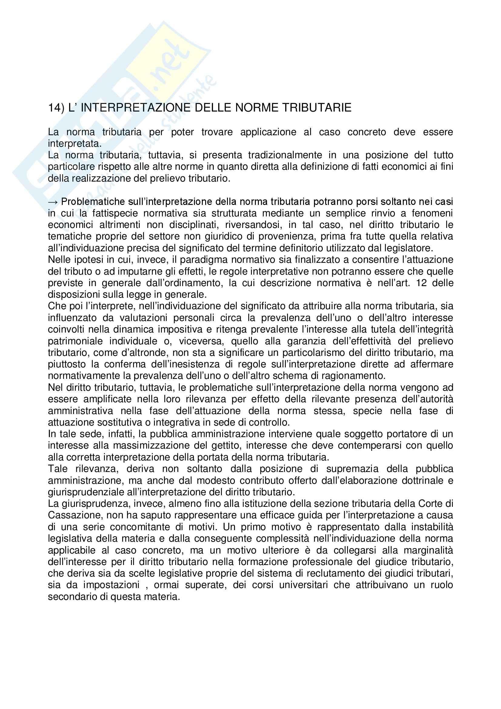 Istituzioni di Diritto tributario - la norma tributaria
