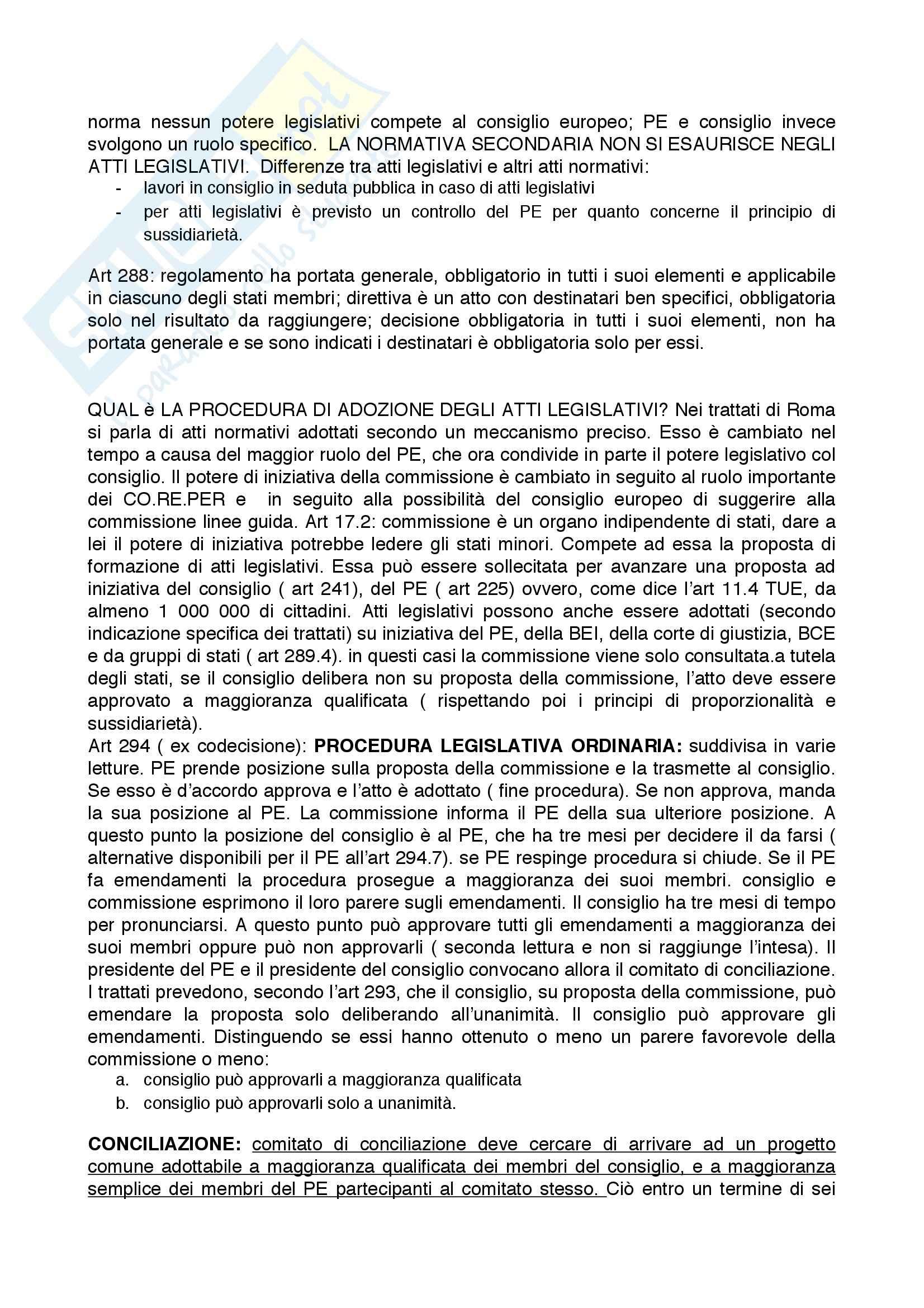 Riassunto esame Diritto dell'Unione Europea, prof. Rubino, libro consigliato Elementi di Diritto dell'Unione Europea, Draetta Pag. 16
