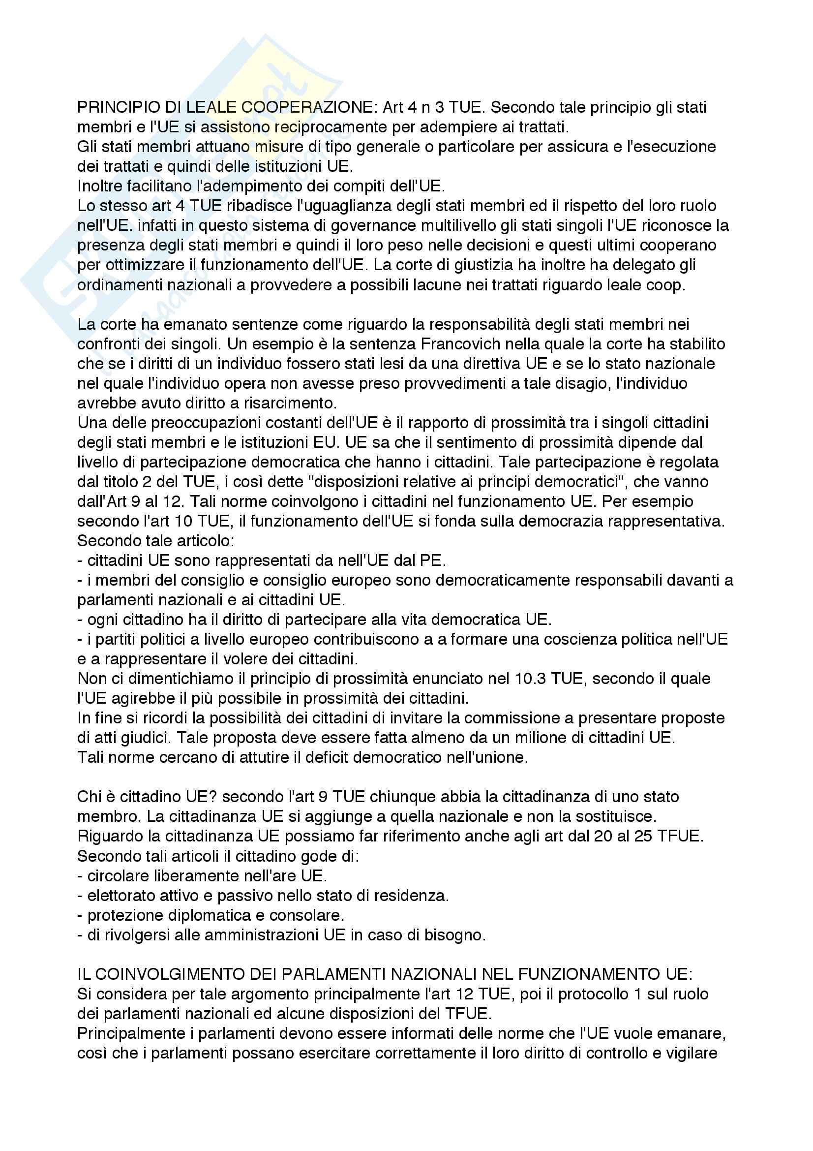 Riassunto esame Diritto dell'Unione Europea, prof. Rubino, libro consigliato Elementi di Diritto dell'Unione Europea, Draetta Pag. 6