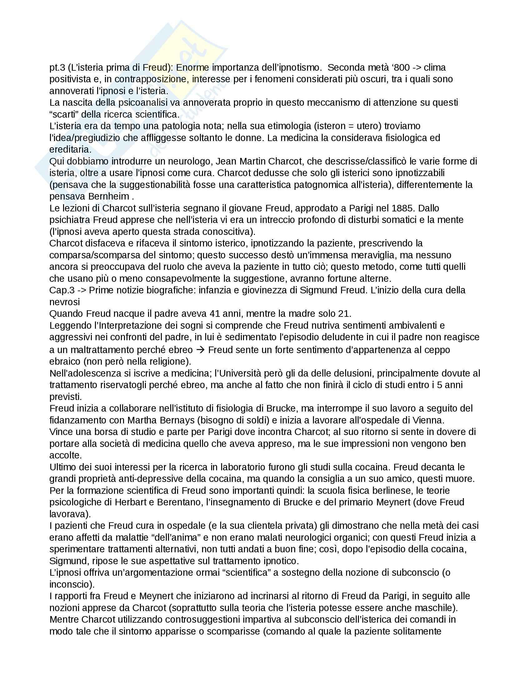 Riassunto esame Psicologia, prof. Lauro, libro consigliato Lezioni sul pensiero freudiano, Mangini Pag. 2