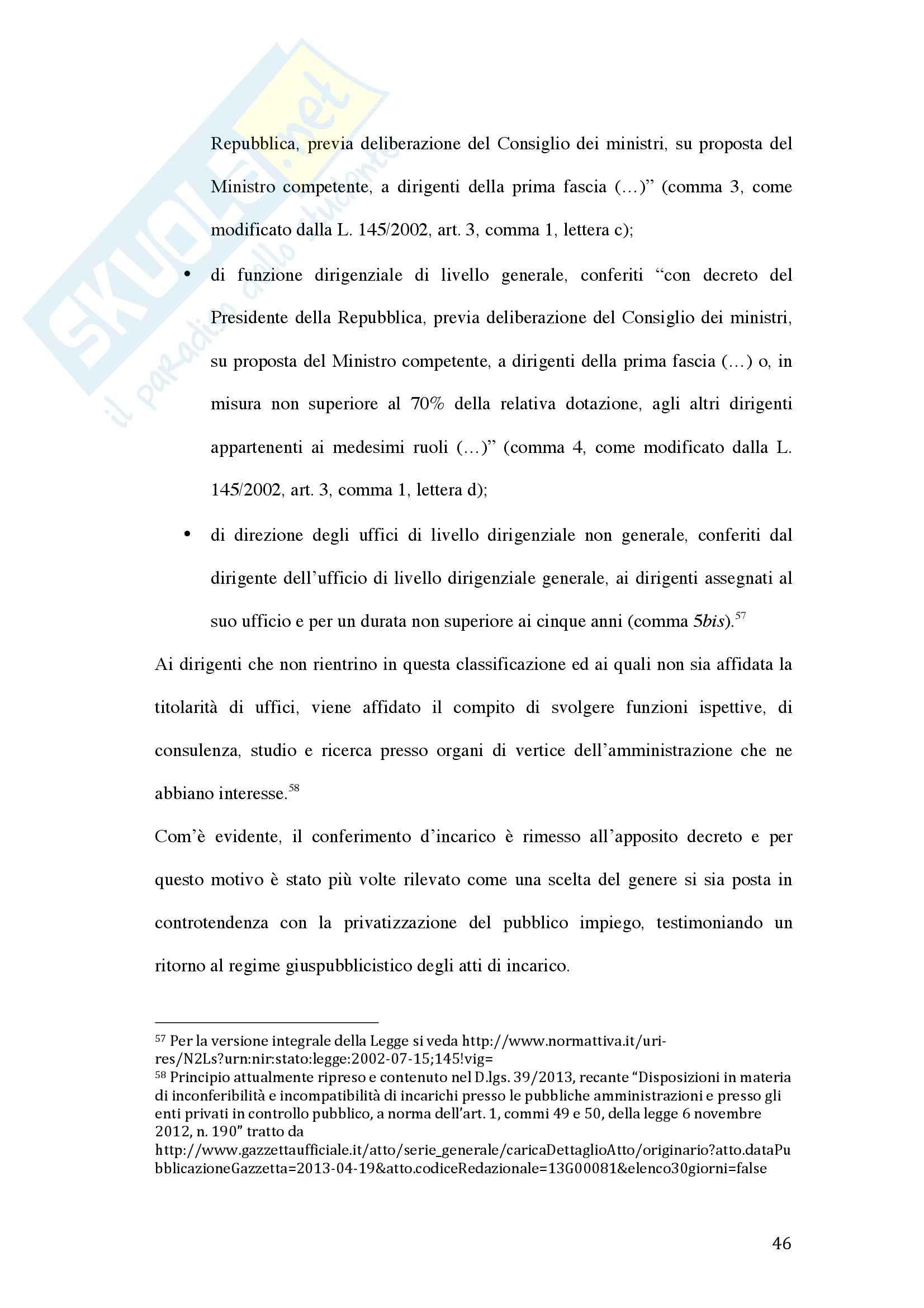 Tesi - La valutazione della dirigenza nelle pubbliche amministrazioni Pag. 46