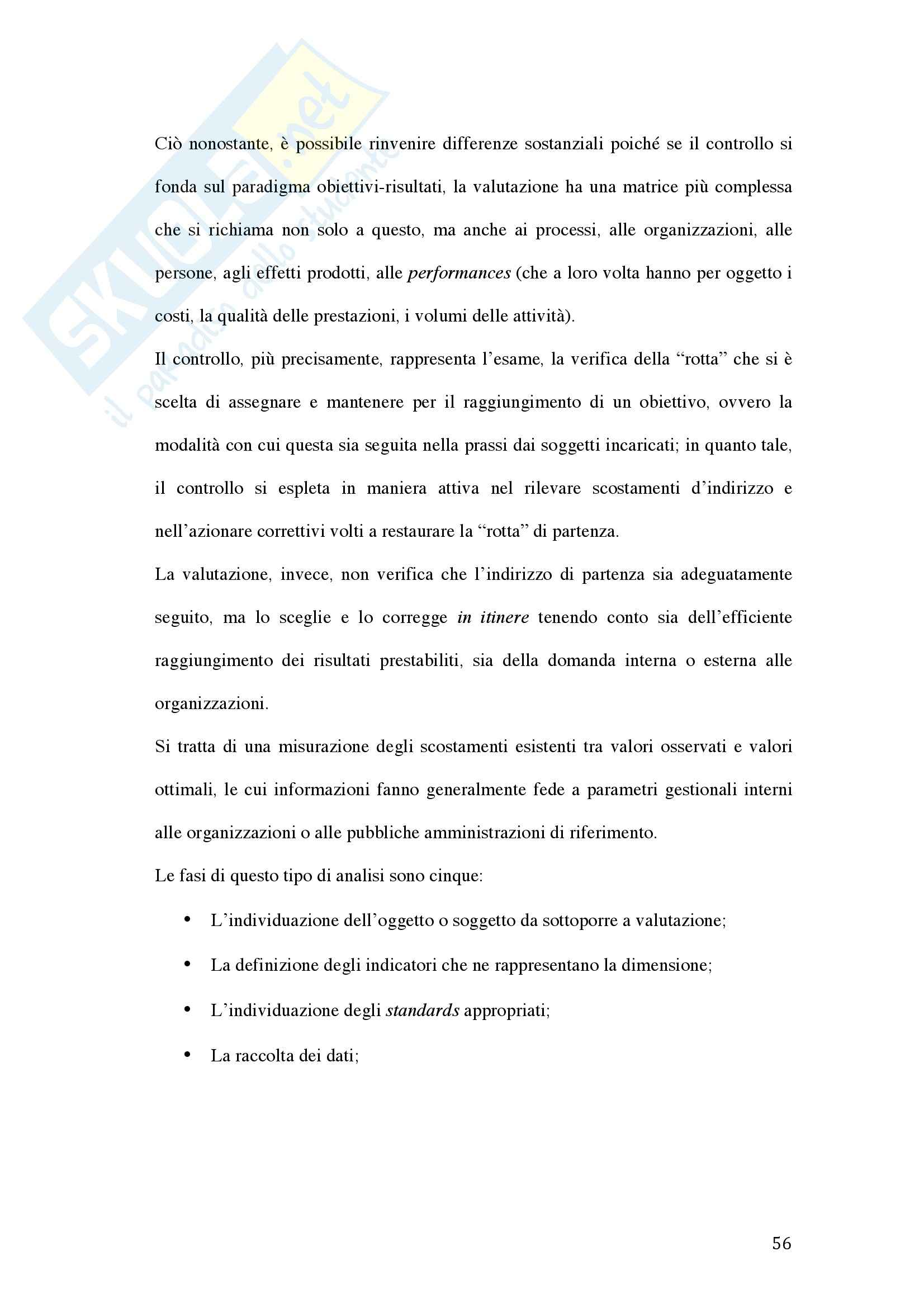 Tesi - La valutazione della dirigenza nelle pubbliche amministrazioni Pag. 56