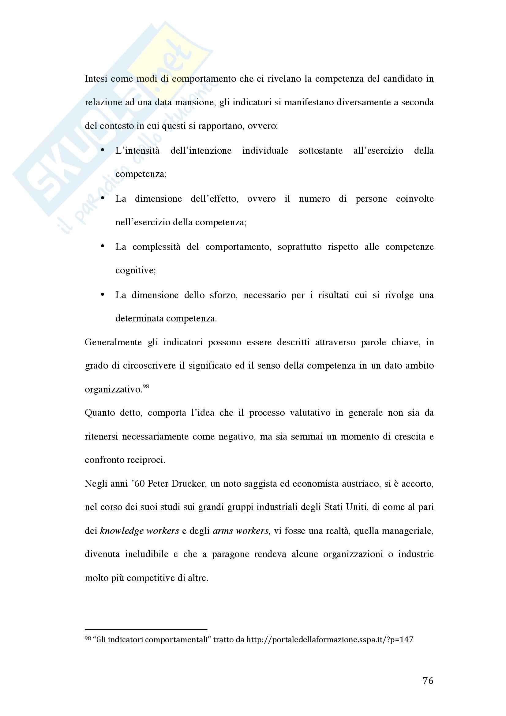 Tesi - La valutazione della dirigenza nelle pubbliche amministrazioni Pag. 76