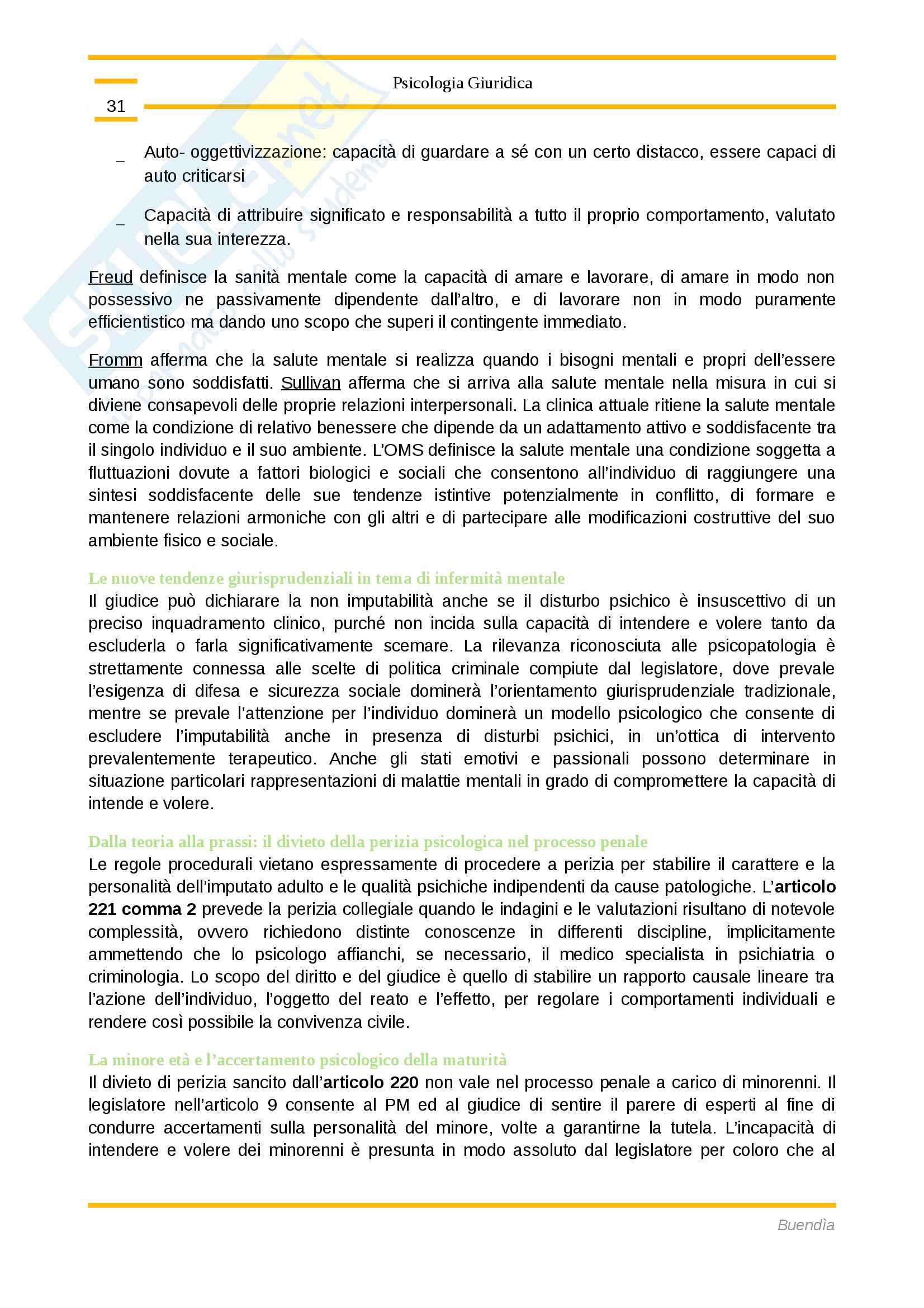 Riassunto esame Psicologia Giuridica, Prof. Elena Magrin Pag. 31