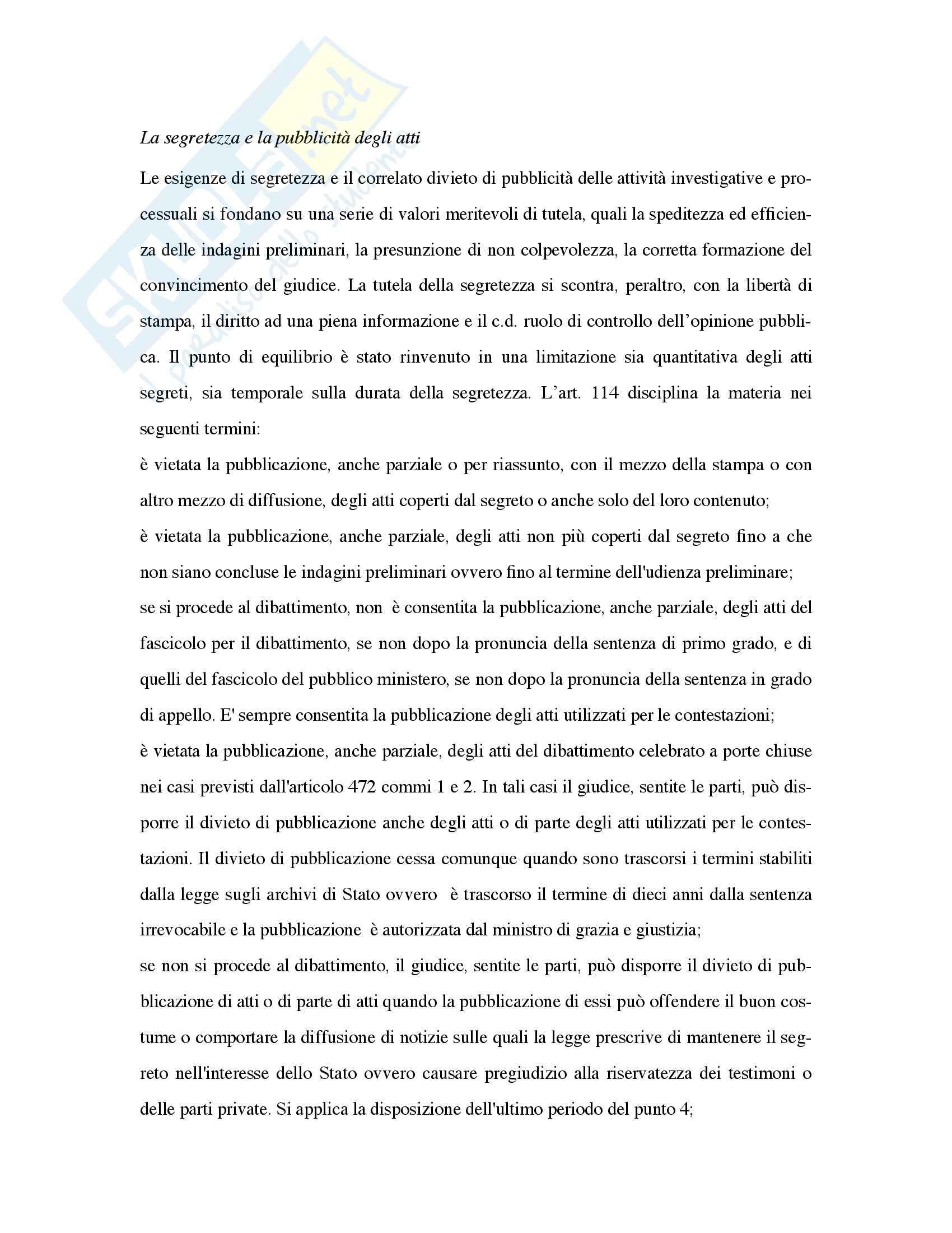 Riassunto esame Diritto, prof. Marzaduri, libro consigliato Diritto processuale penale, Siracusano Pag. 31