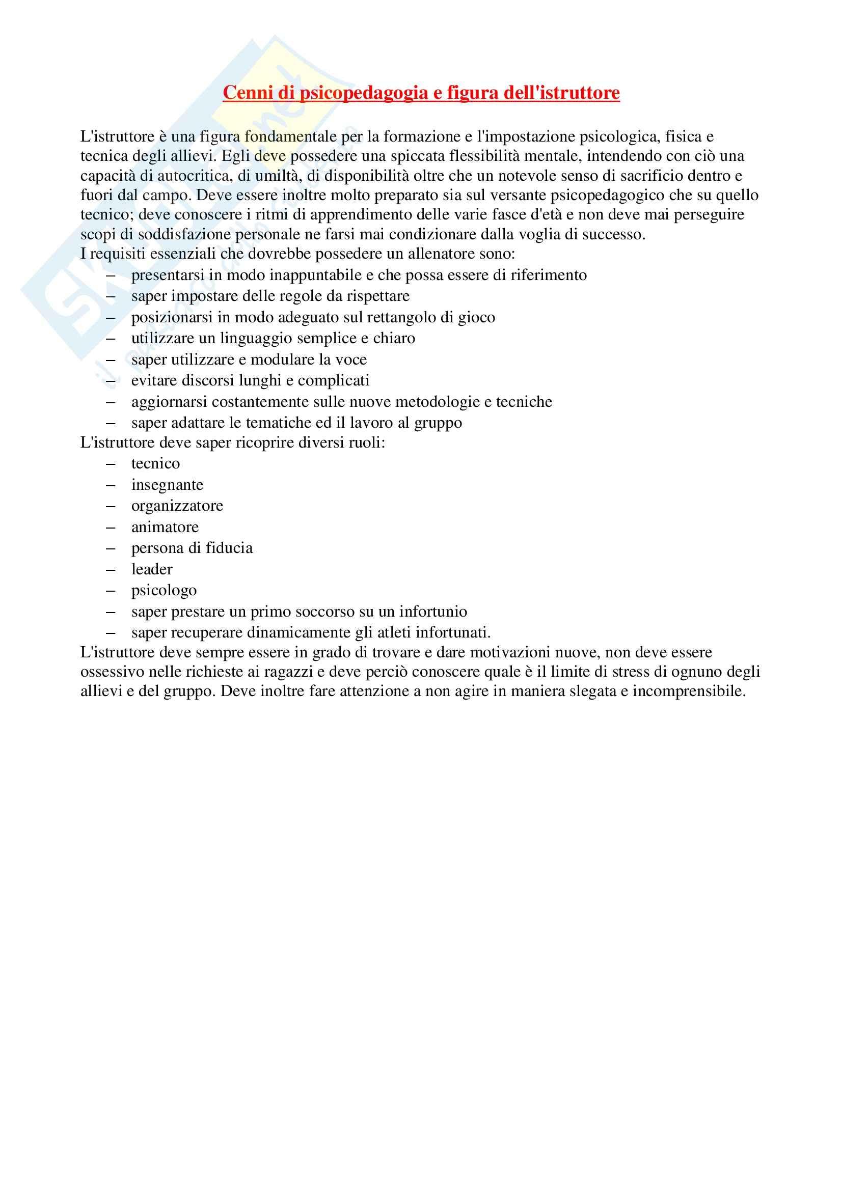 Riassunto esame Sport di squadra, prof. Izzo, libro consigliato La costruzione dell'allenamento nella pallacanestro