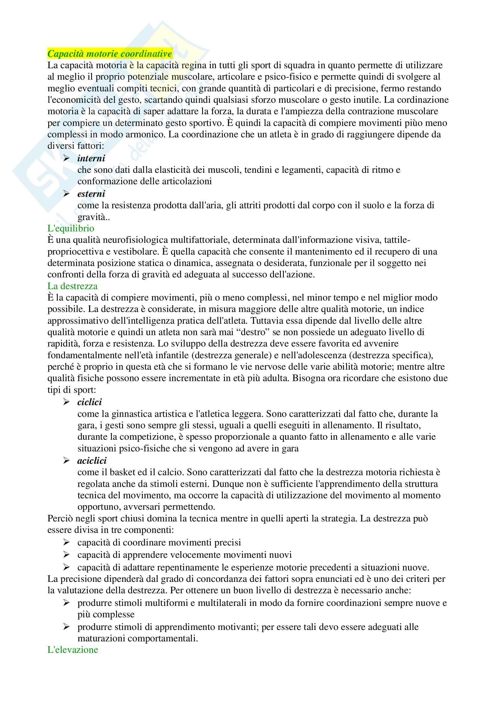 Riassunto esame Sport di squadra, prof. Izzo, libro consigliato La costruzione dell'allenamento nella pallacanestro Pag. 11