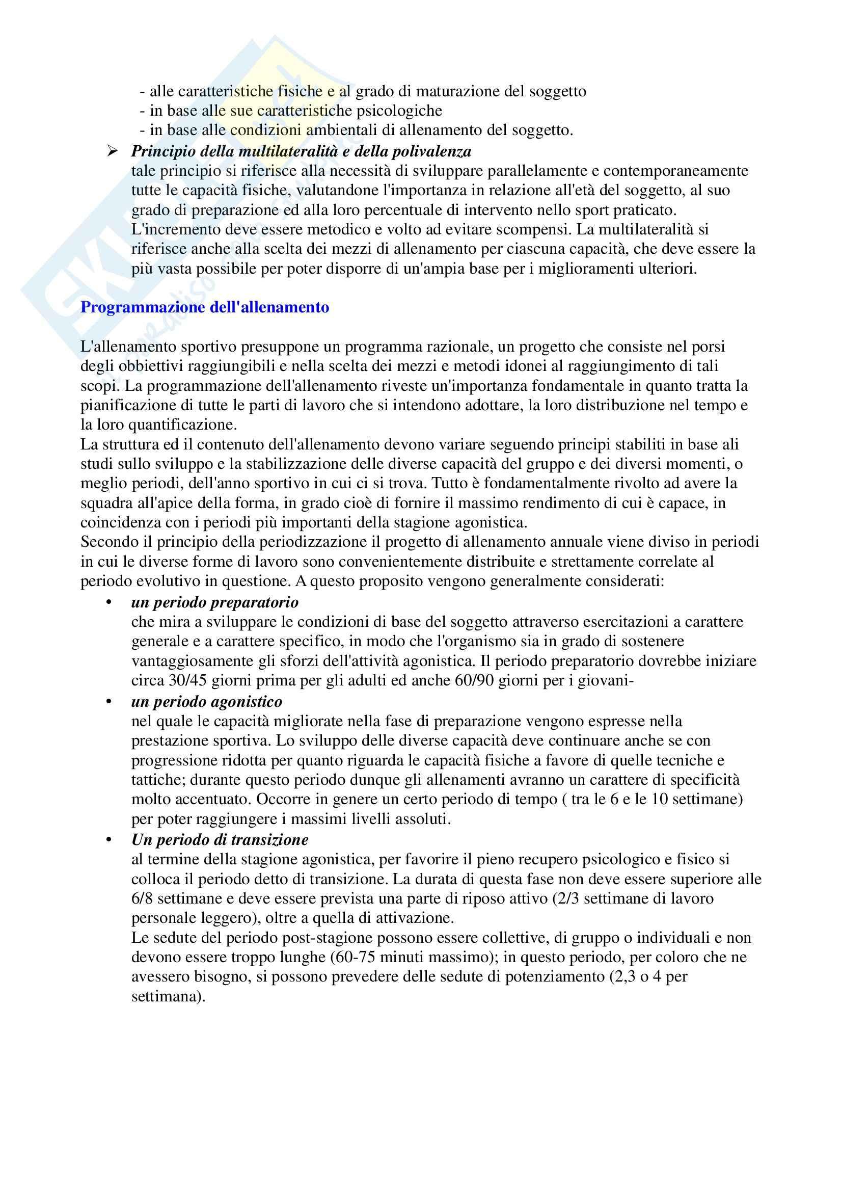 Riassunto esame Sport di squadra, prof. Izzo, libro consigliato La costruzione dell'allenamento nella pallacanestro Pag. 6