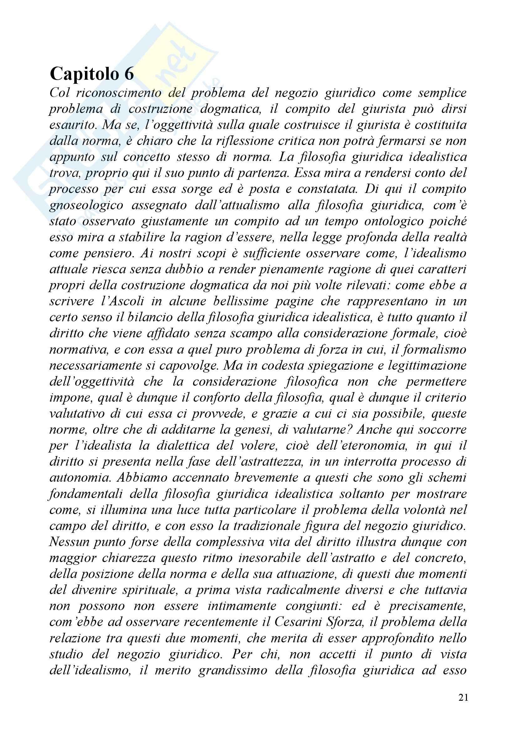Riassunto esame Diritto Civile, prof. Irti, libro consigliato Studi sul Negozio Giuridico Pag. 21