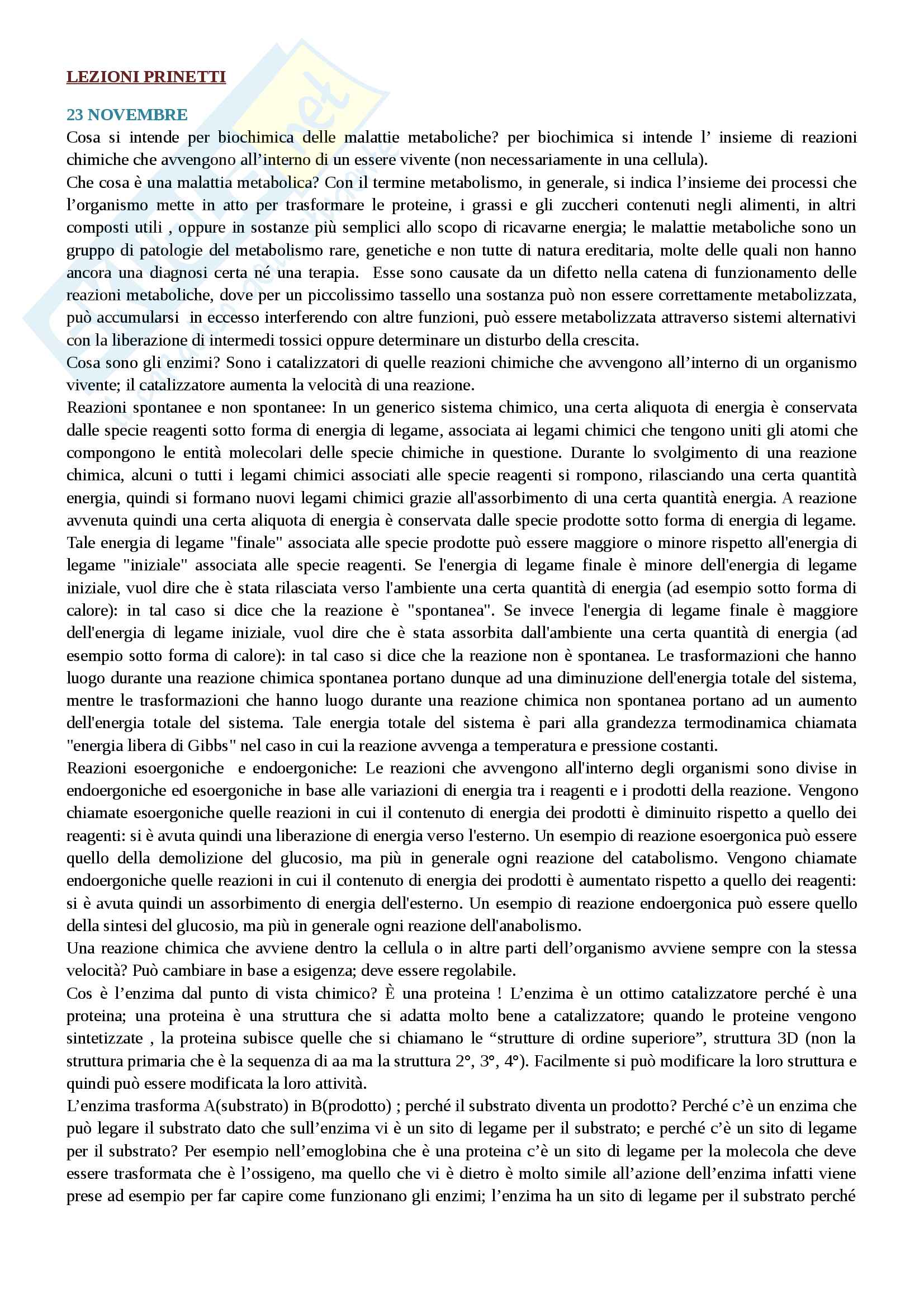 Biochimica degli alimenti, della nutrizione e delle malattie metaboliche mod.2 prinetti