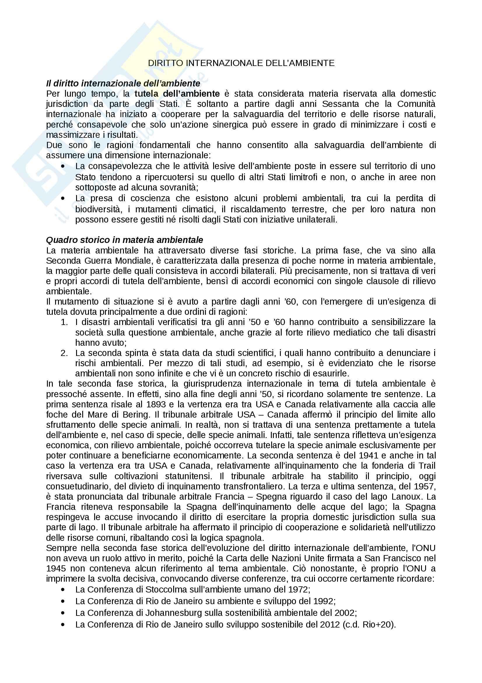 Diritto internazionale dell'ambiente