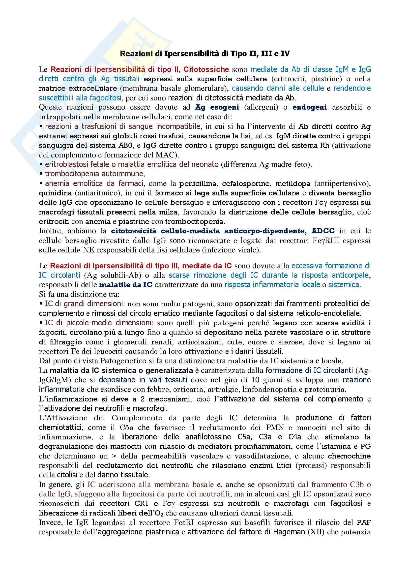 appunto M. Conese Immunologia