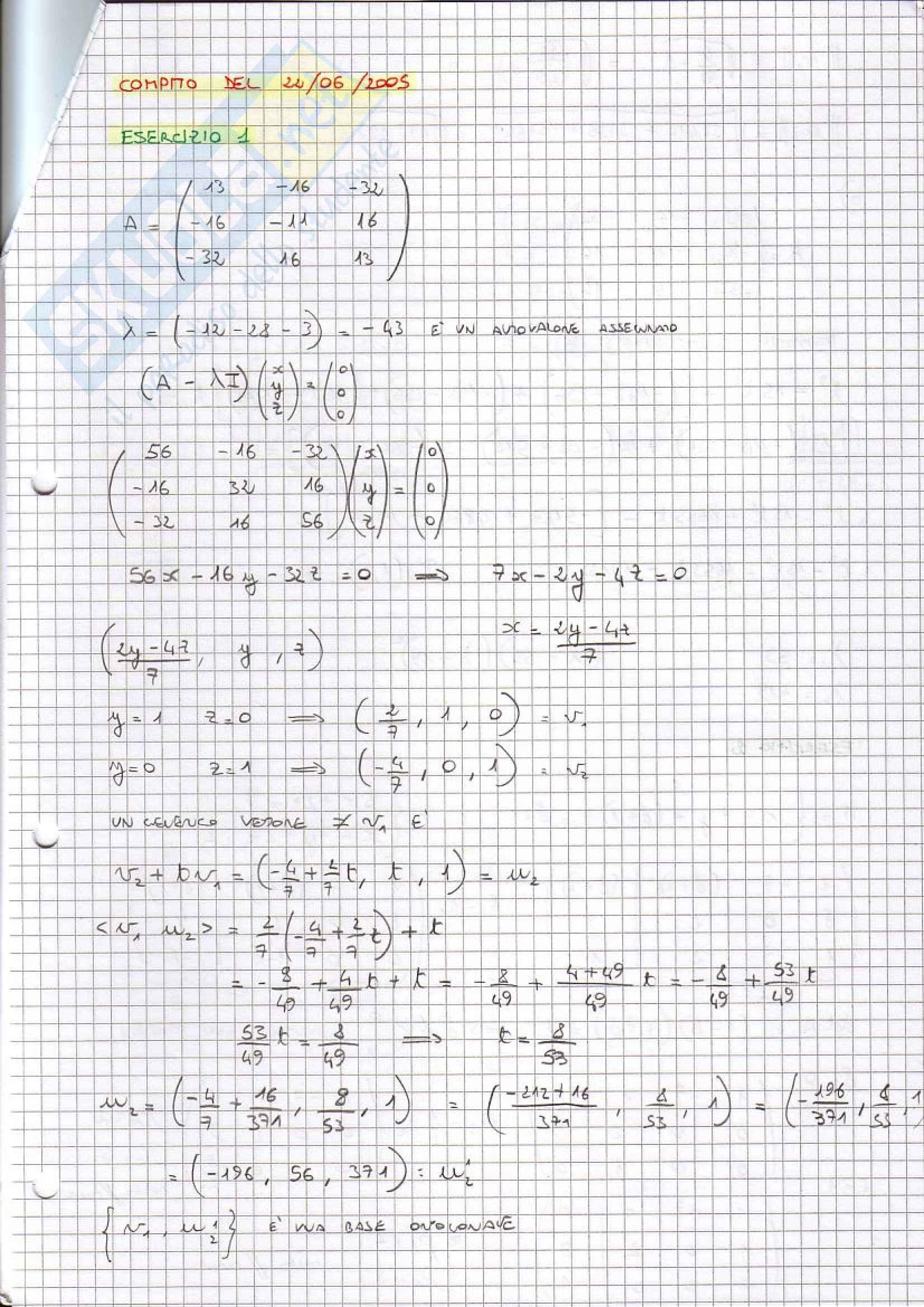 Geometria e algebra Pag. 6