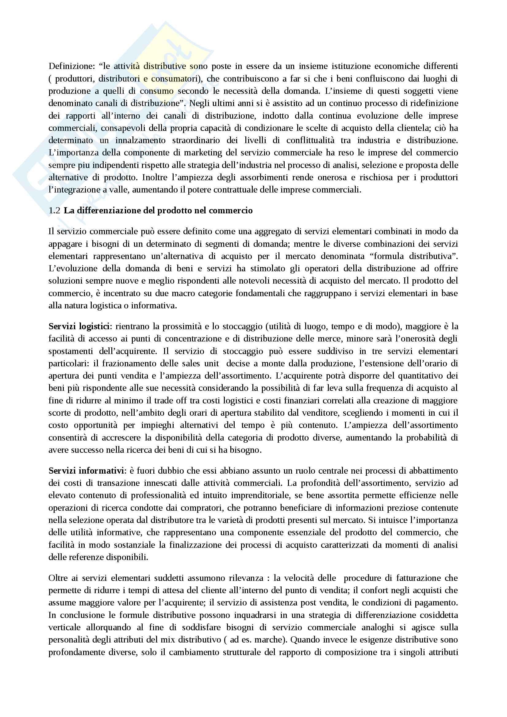 Riassunto esame management della distribuzione, docente Popoli, libro consigliato Management della distribuzione commerciale, Mcgraw-Hill Pag. 2