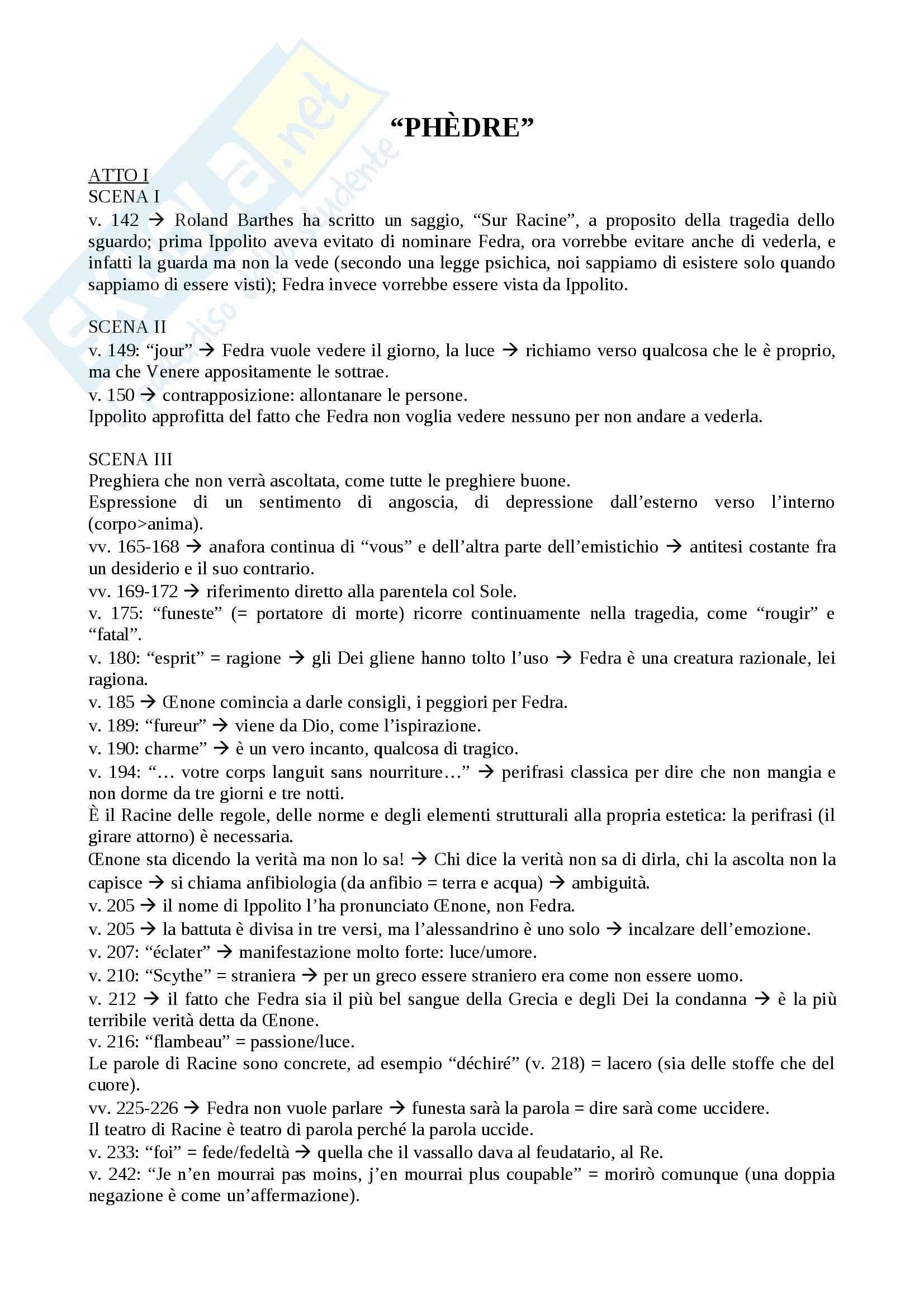 Drammaturgia Francese - Phèdre e altre opere