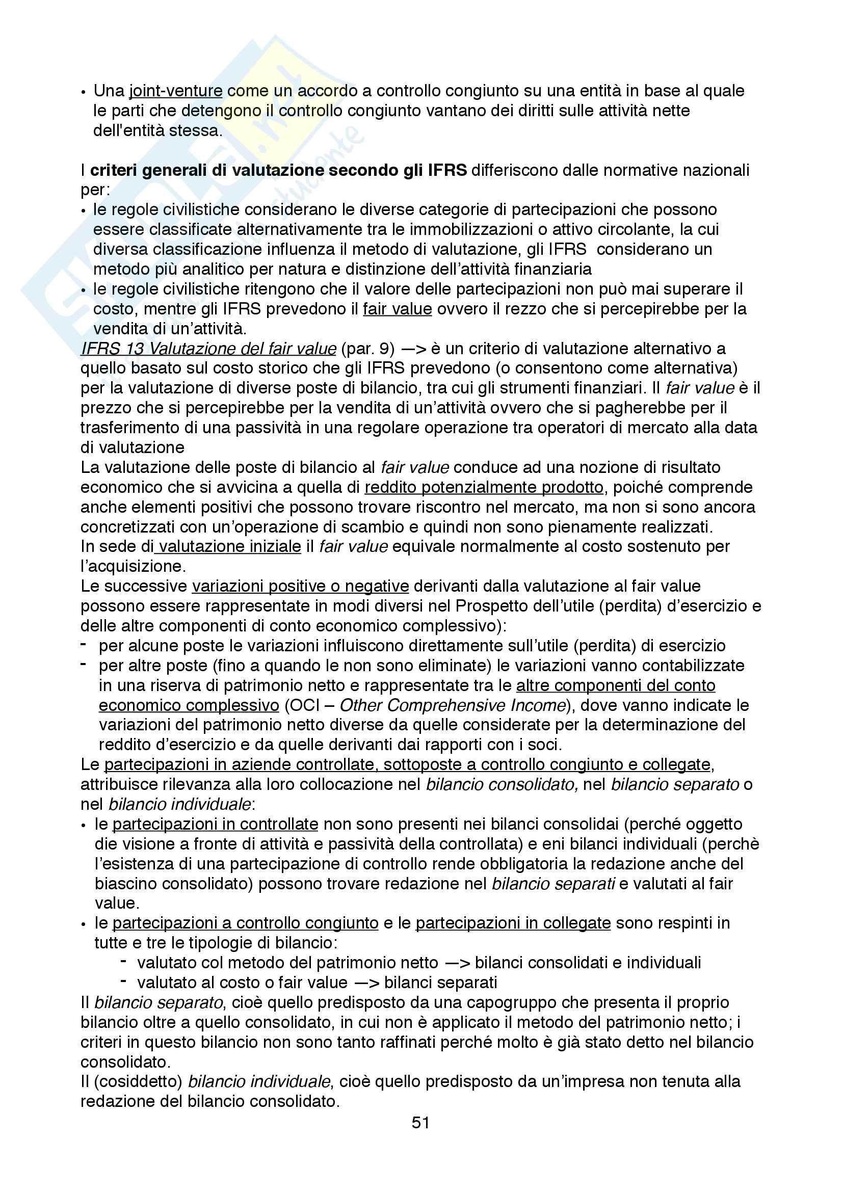 Appunti dettagliati su Bilancio dei gruppi, sufficienti a preparare l'Esame Pag. 51