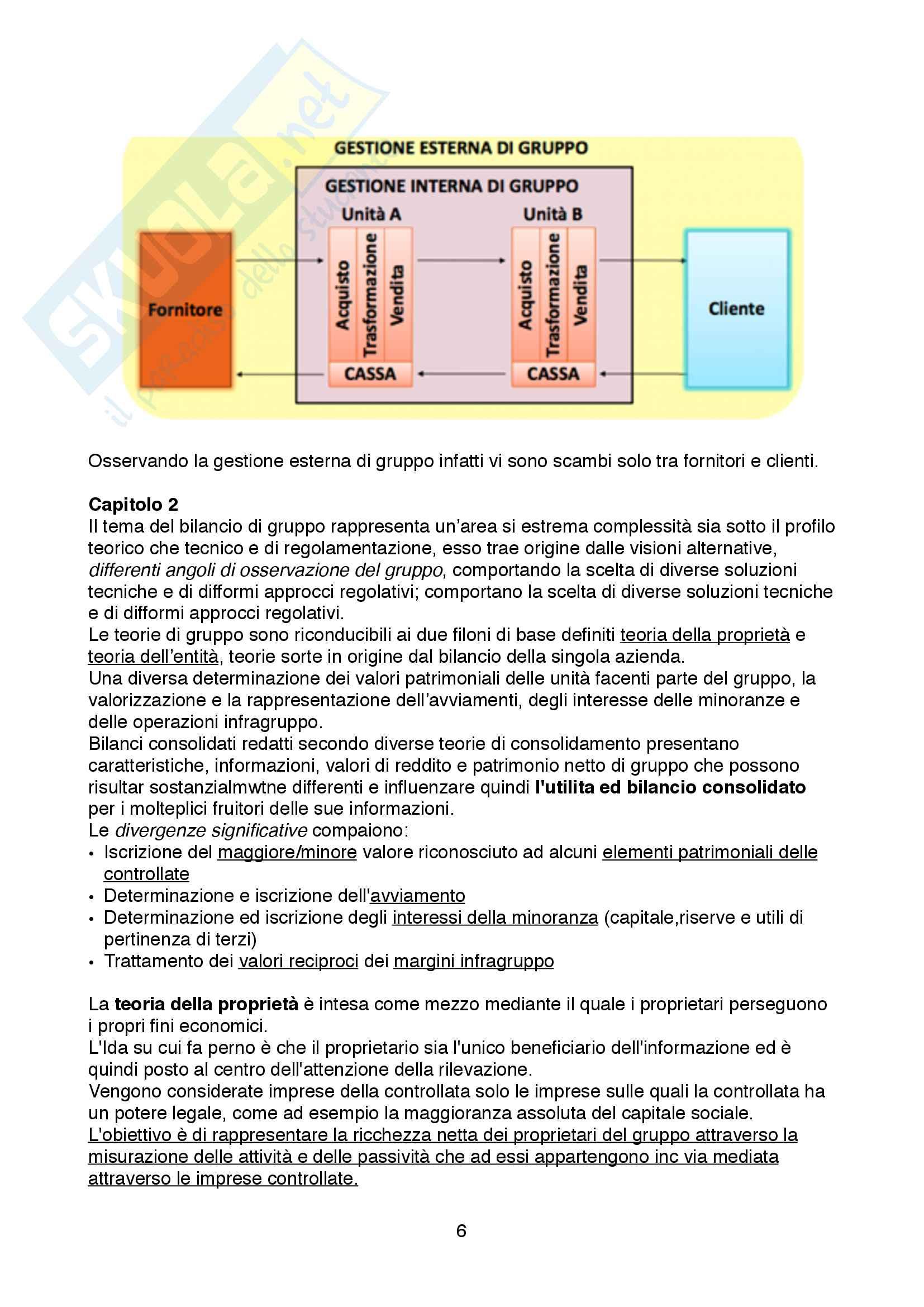 Appunti dettagliati su Bilancio dei gruppi, sufficienti a preparare l'Esame Pag. 6