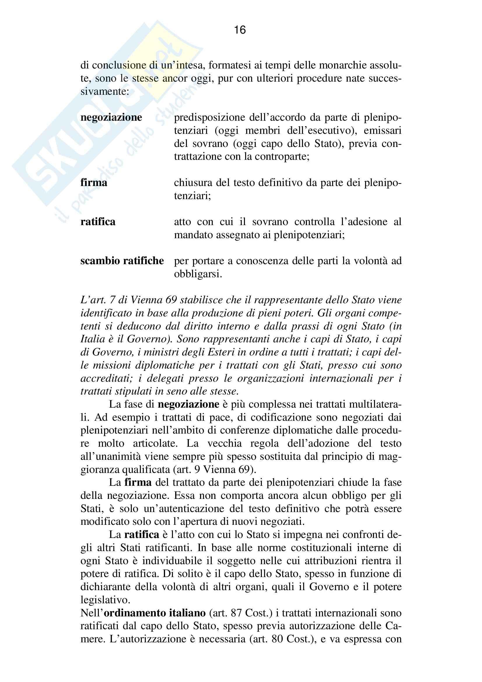 Riassunto esame Diritto Internazionale, prof. Baroncini, libro consigliato Diritto Internazionale, Conforti Pag. 16