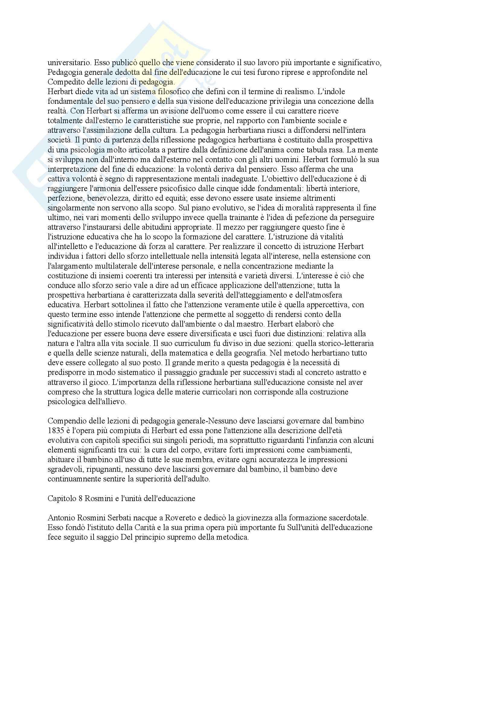 Storia della pedagogia e della letteratura per l'infanzia - i maestri e le idee della pedagogia moderna Pag. 6