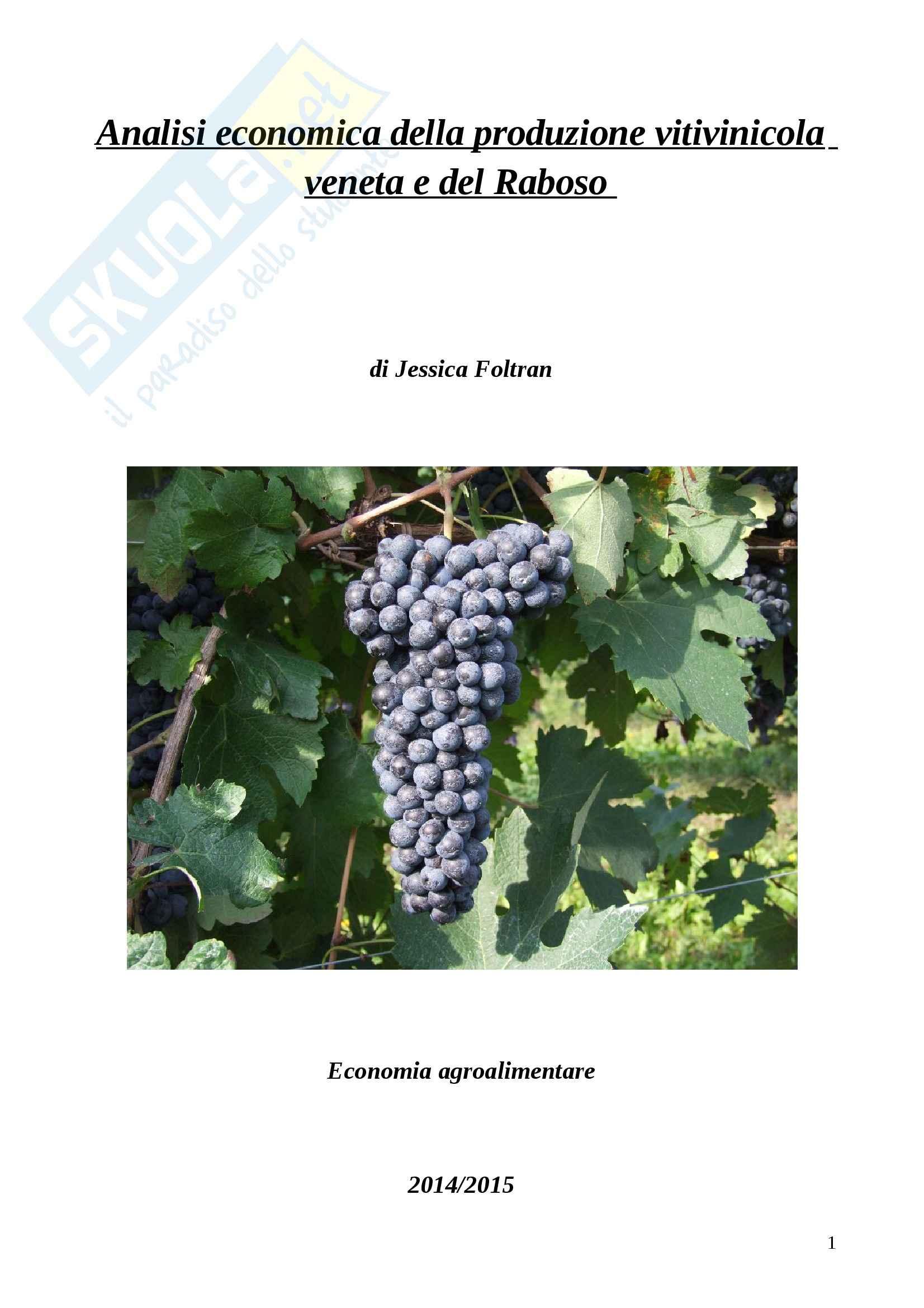 esercitazione G. Gallenti Economia agroalimentare