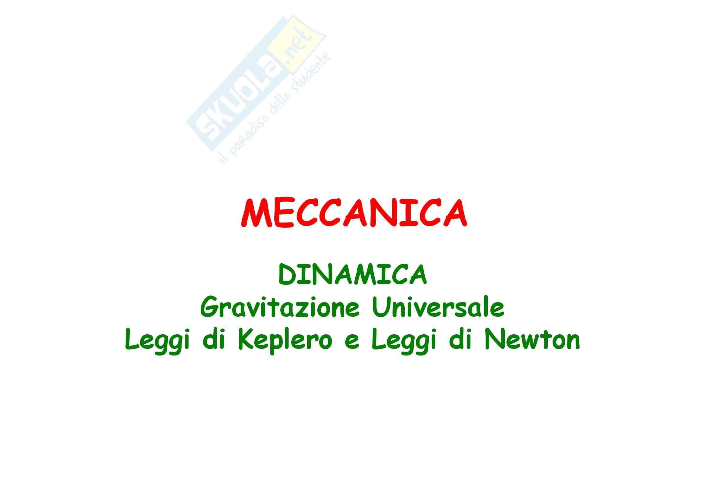 Fisica generale - la meccanica gravitazione universale