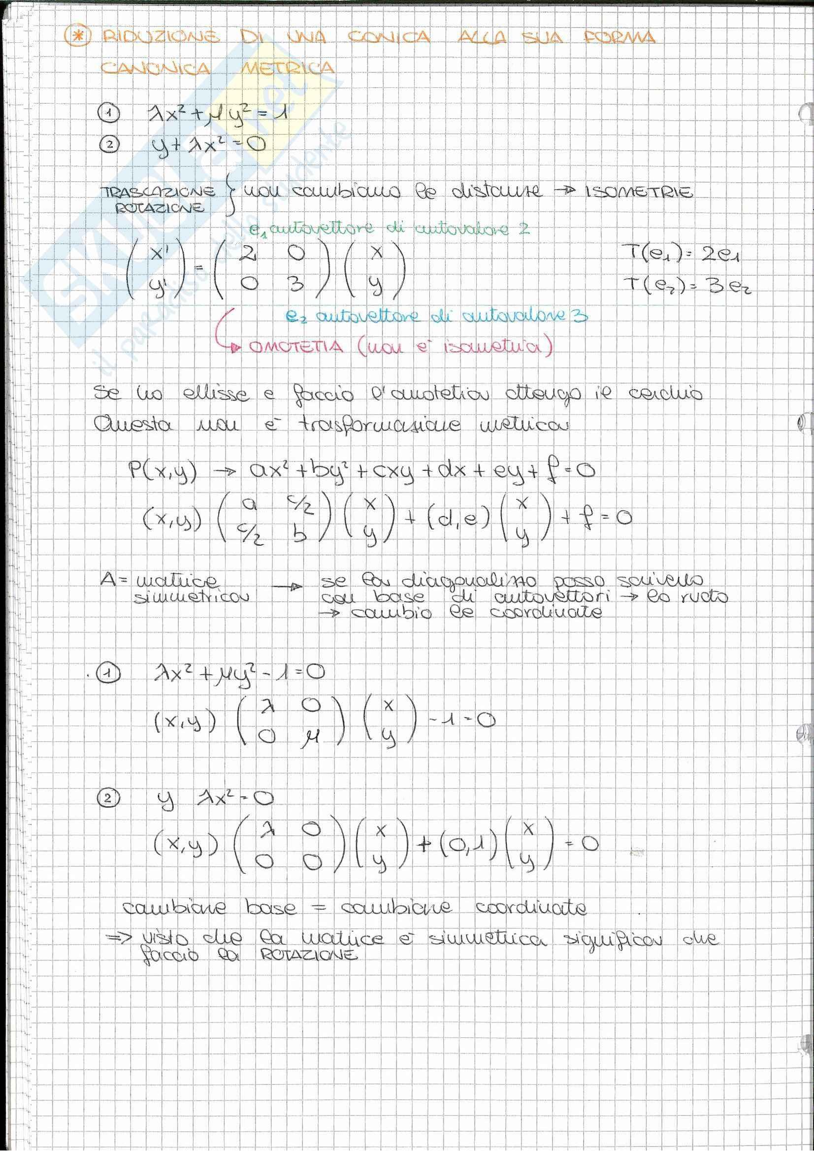 Riassunto esame Geometria, prof. Nelli, libro consigliato Algebra lineare, Capocasa, Medori Pag. 41