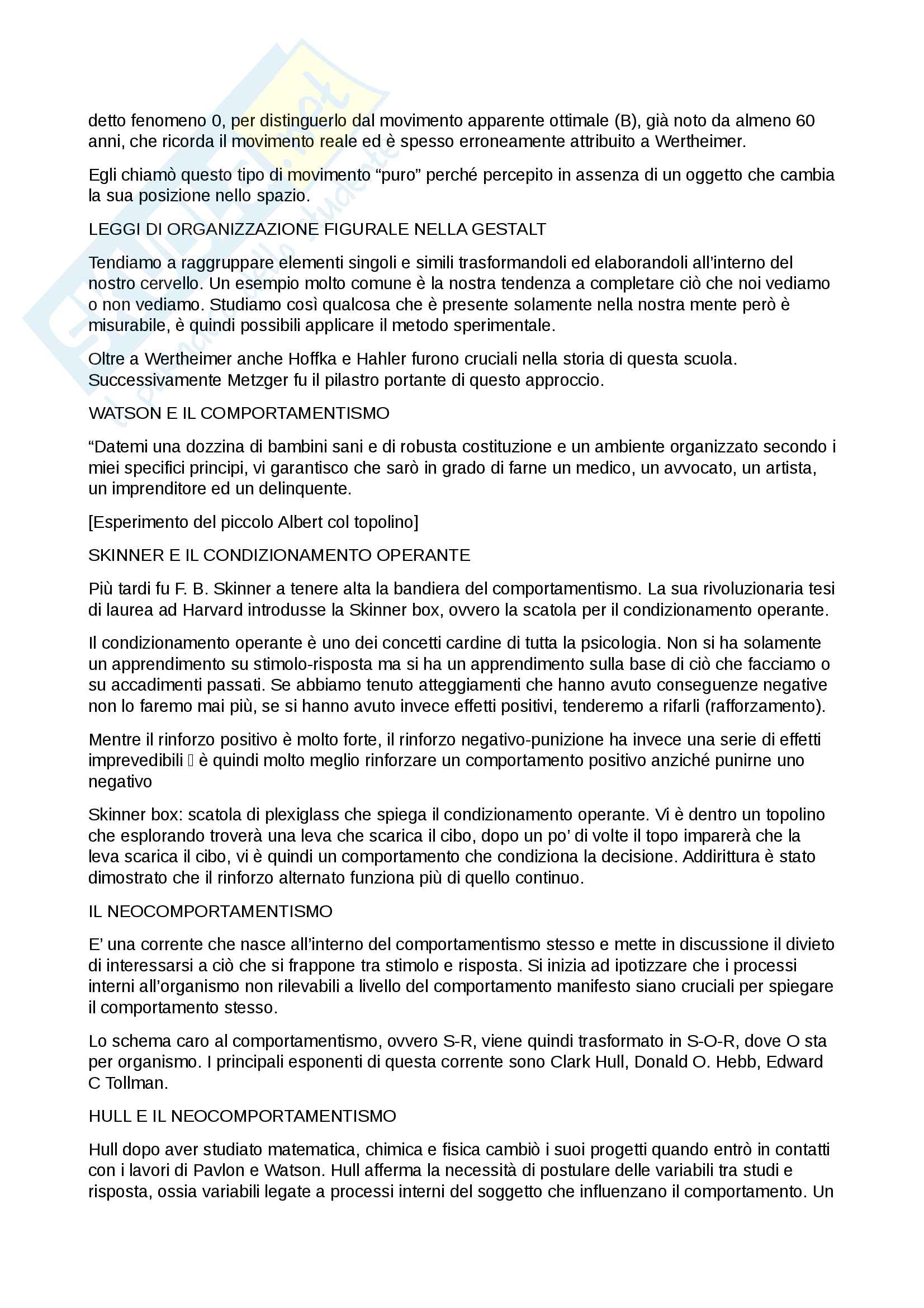 Appunti Psicologia Generale (Prof Gori) Pag. 2