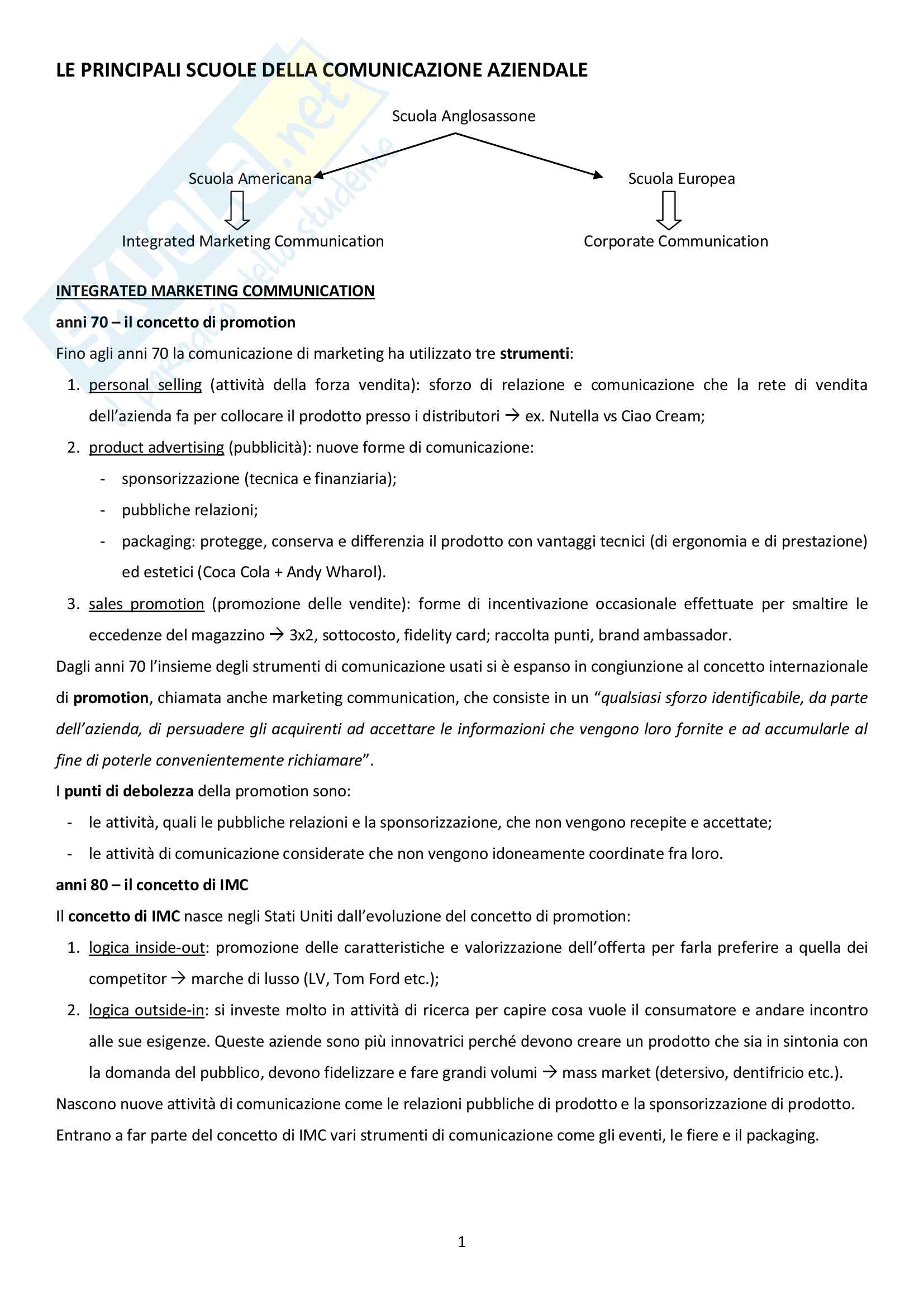 Economia e Tecnica della Comunicazione Aziendale - domande e risposte per frequentanti