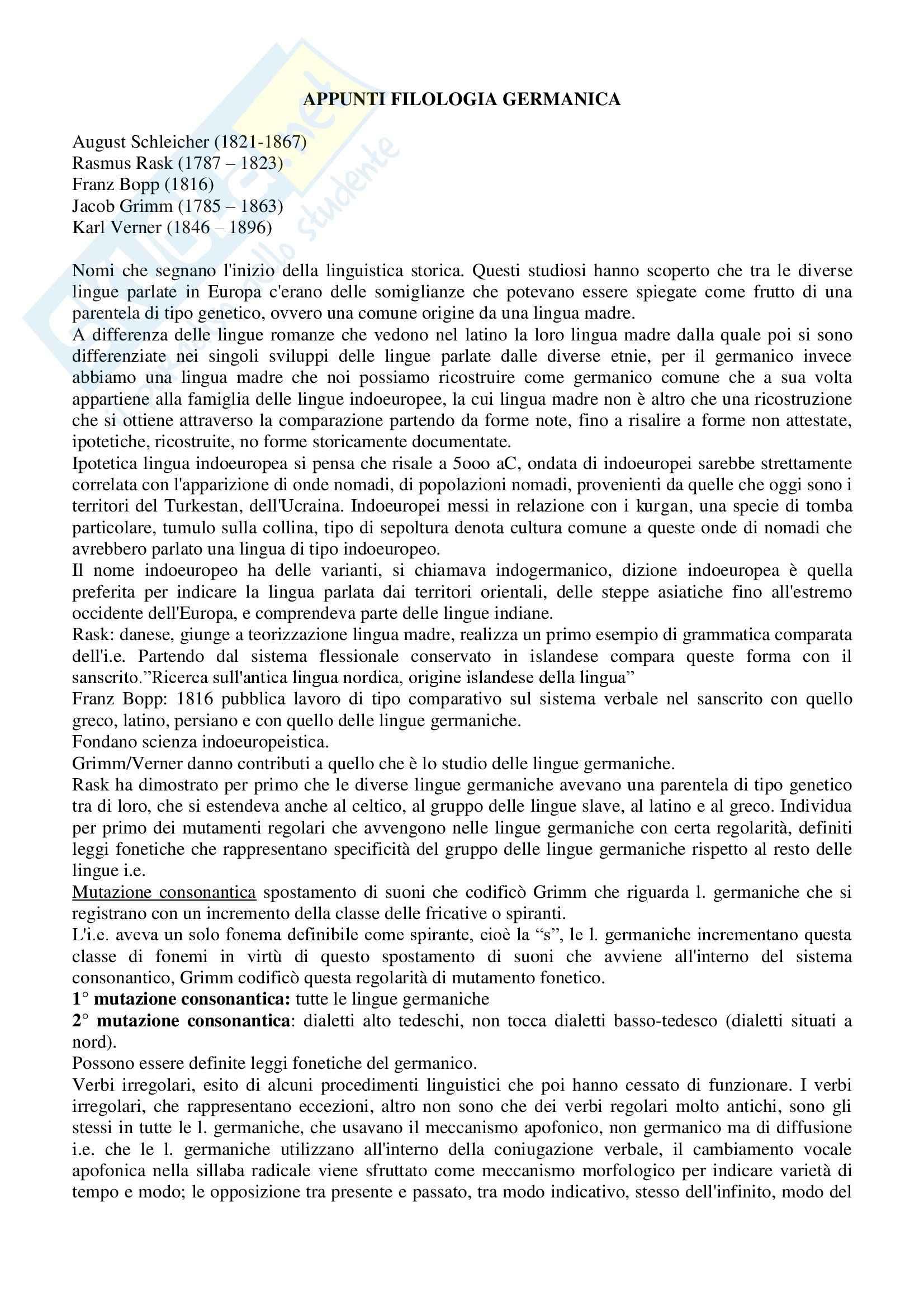 appunto C. Del Zotto Filologia Germanica
