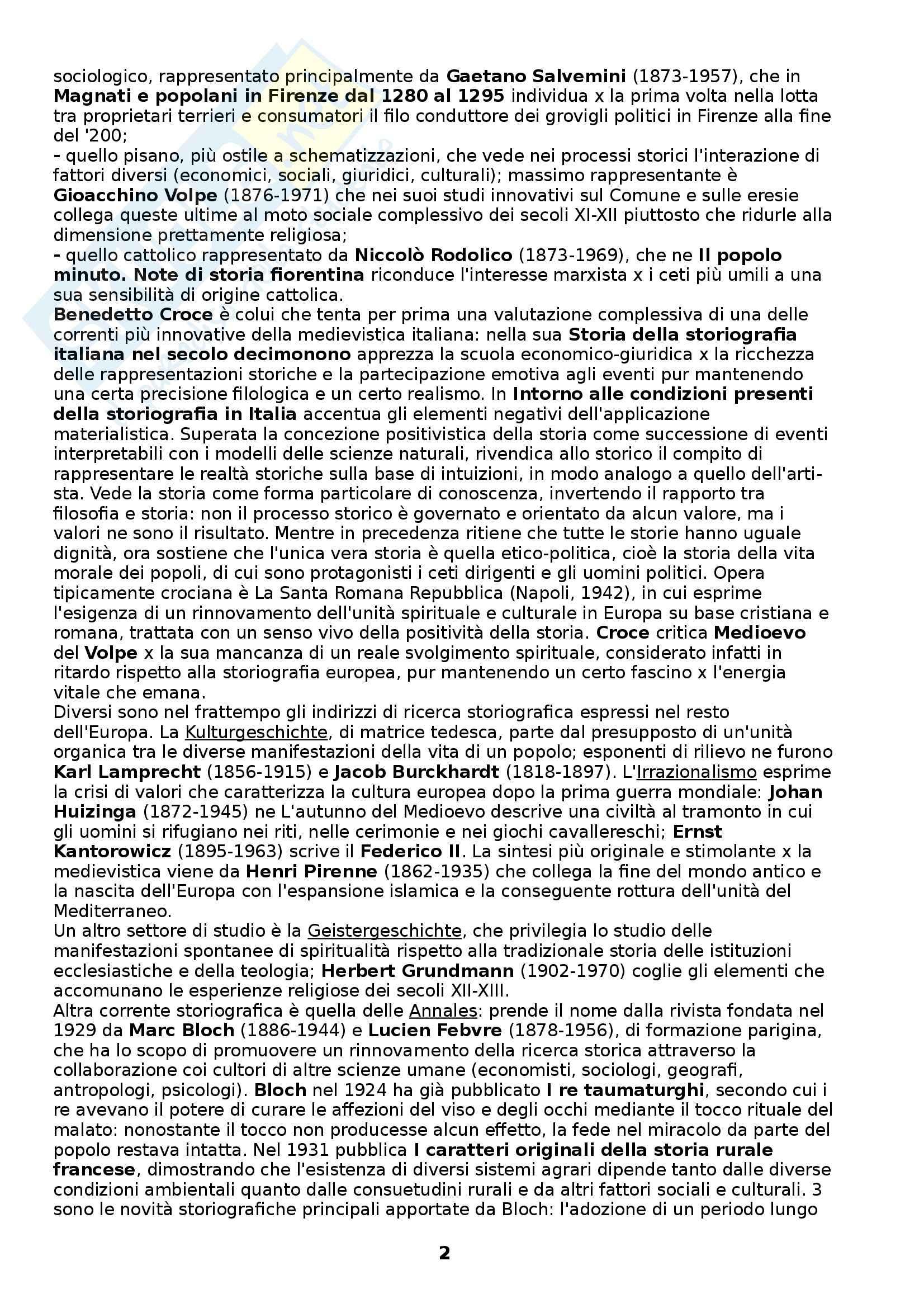 Riassunto esame Storia medievale, prof. Figliuolo, libro consigliato Medioevo, I caratteri originali di un'età di transizione, Vitolo Pag. 2