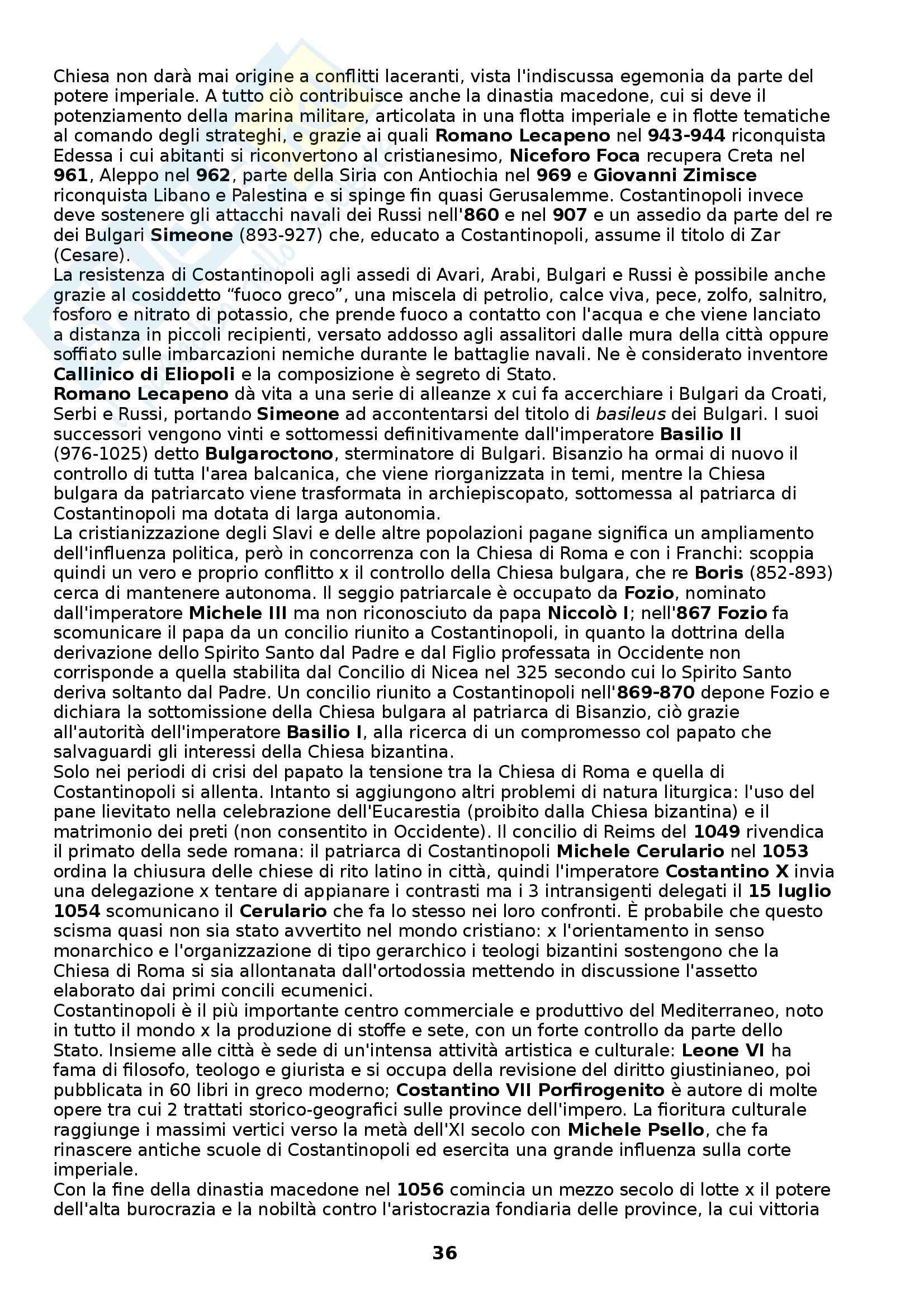 Riassunto esame Storia medievale, prof. Figliuolo, libro consigliato Medioevo, I caratteri originali di un'età di transizione, Vitolo Pag. 36