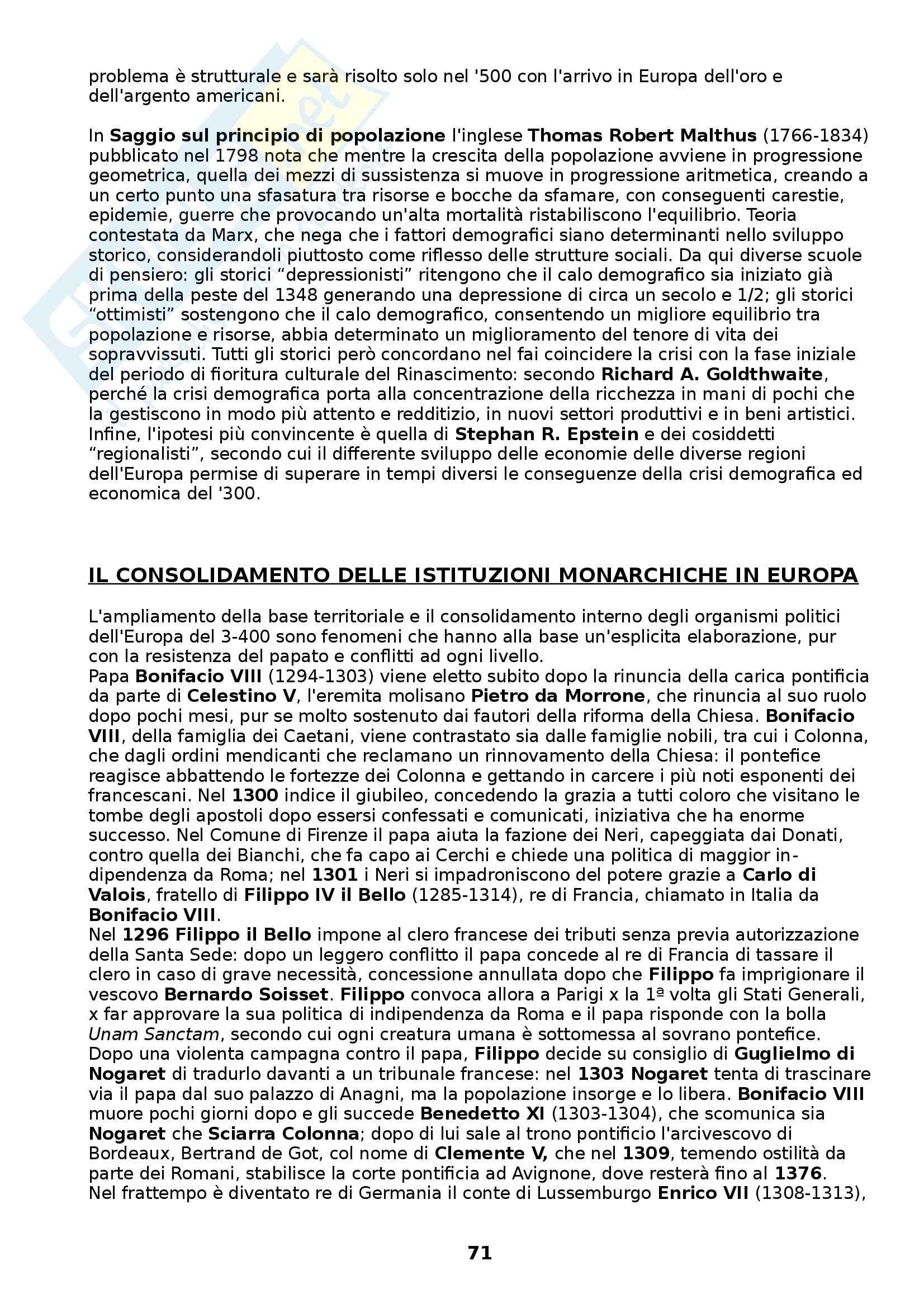 Riassunto esame Storia medievale, prof. Figliuolo, libro consigliato Medioevo, I caratteri originali di un'età di transizione, Vitolo Pag. 71