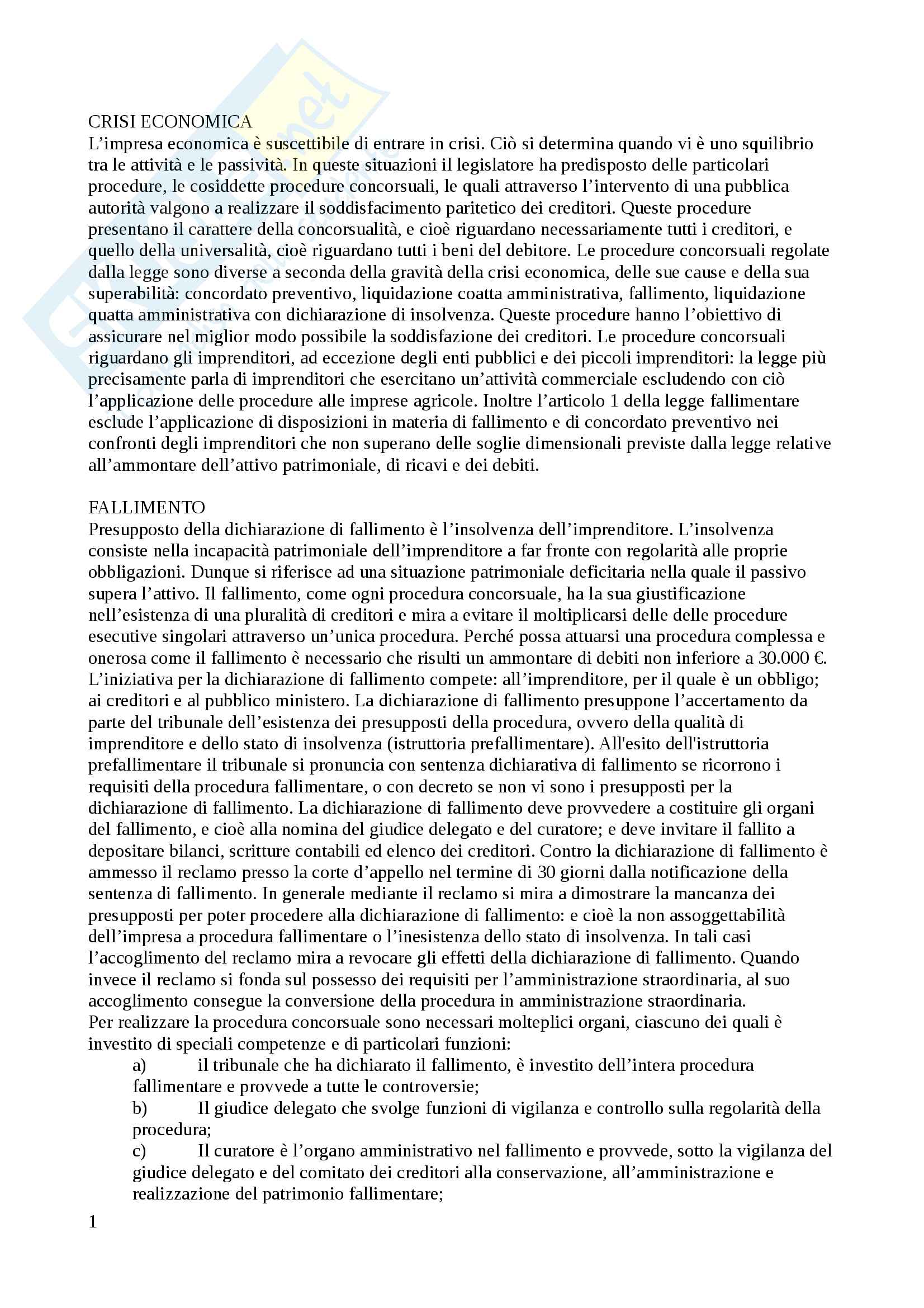 Riassunto esame Diritto Commerciale, prof. Guizzi, libro consigliato Manuale di Diritto commerciale, Ferri