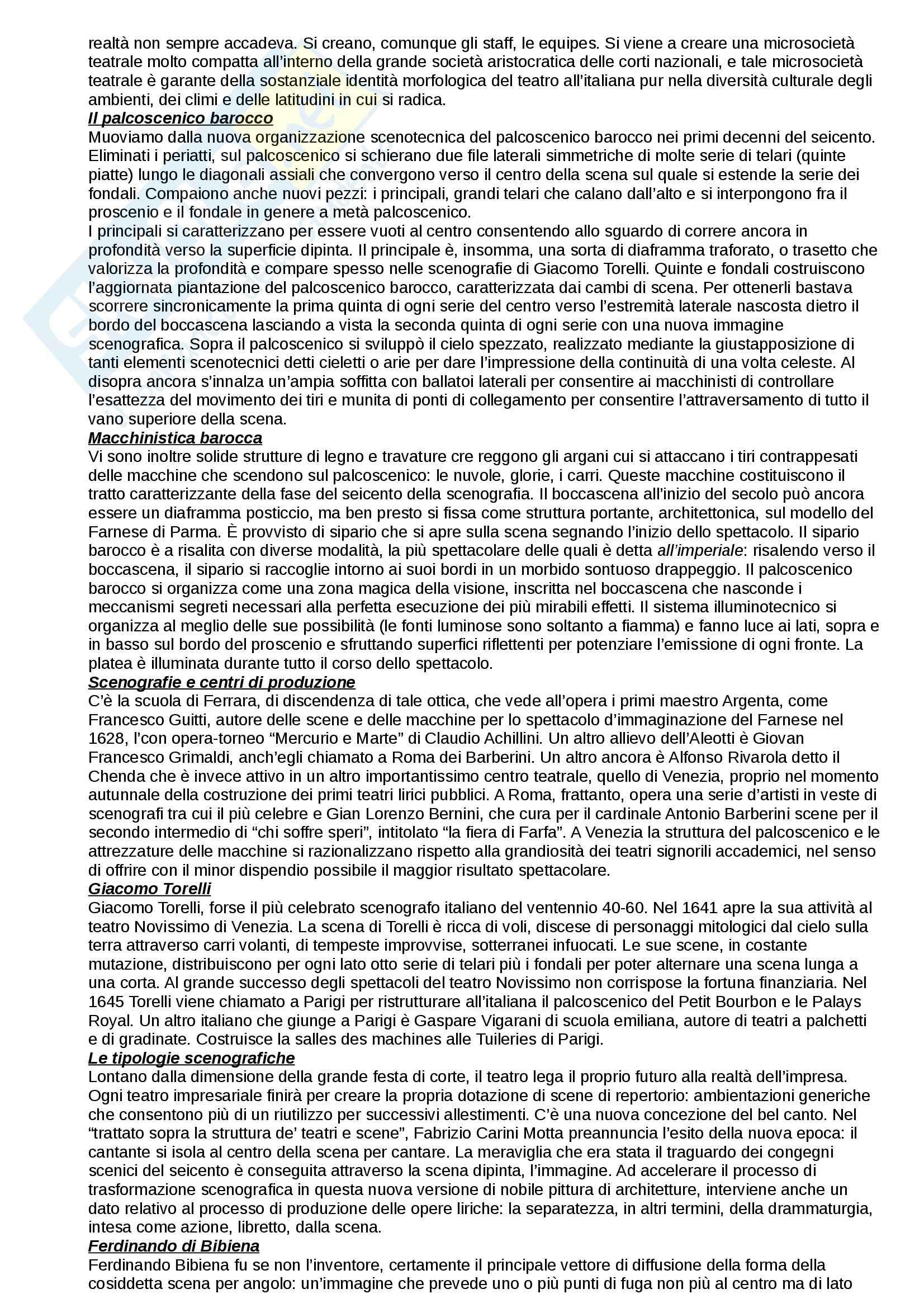 Riassunto esame Storia del Teatro, prof. Fazio, libro consigliato Lo Spazio Scenico dai Greci alle Avanguardie, Sinisi, Innamorati Pag. 6