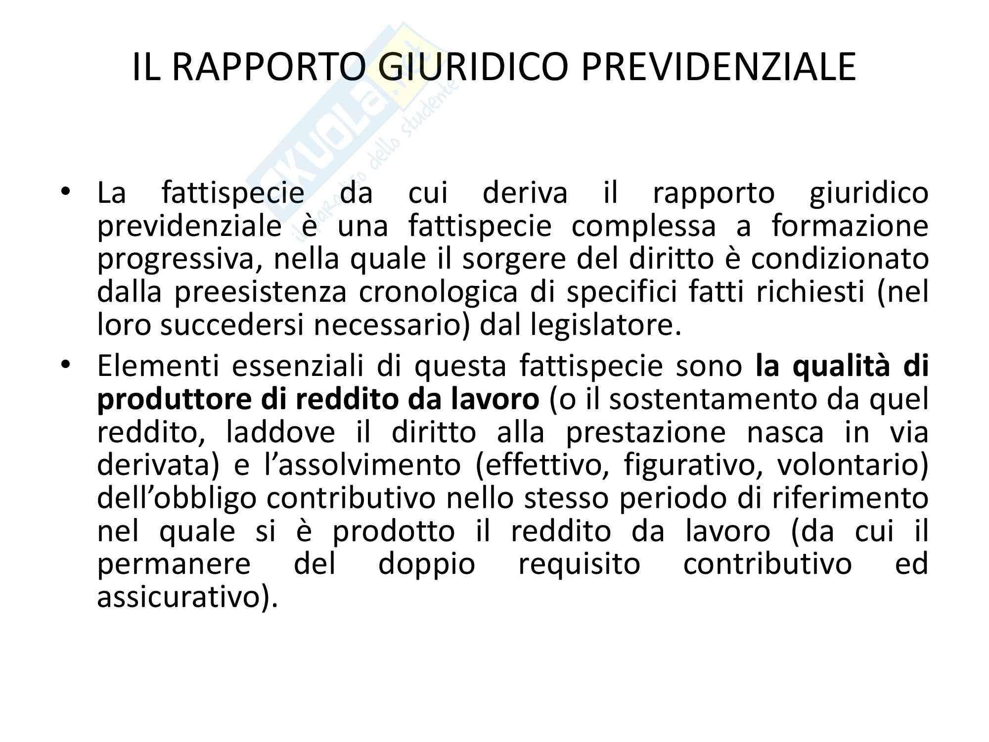 Diritto della previdenza sociale - Riassunto esame, prof. Battisti