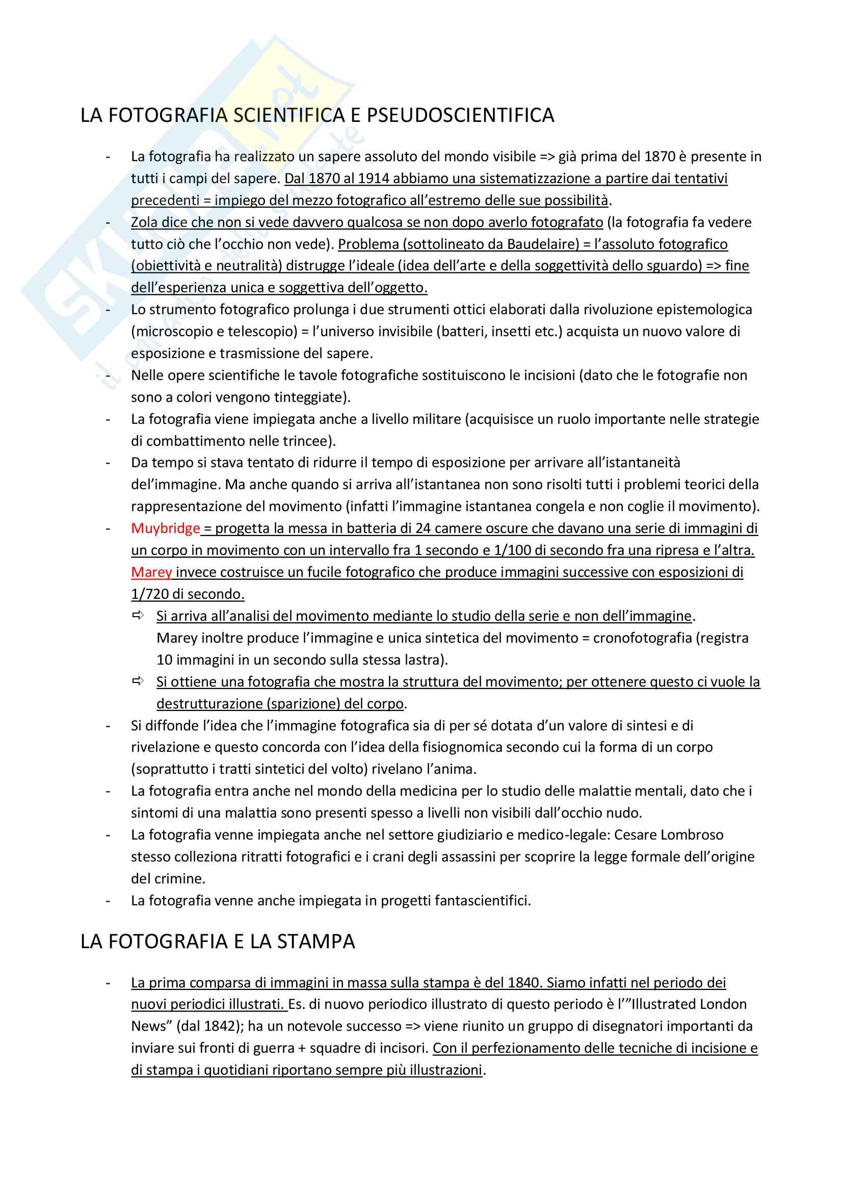 Riassunto esame storia della fotografia, prof. Giorgio Zanchetti, libro consigliato Storia della fotografia, Lemagny-Rouille Pag. 11