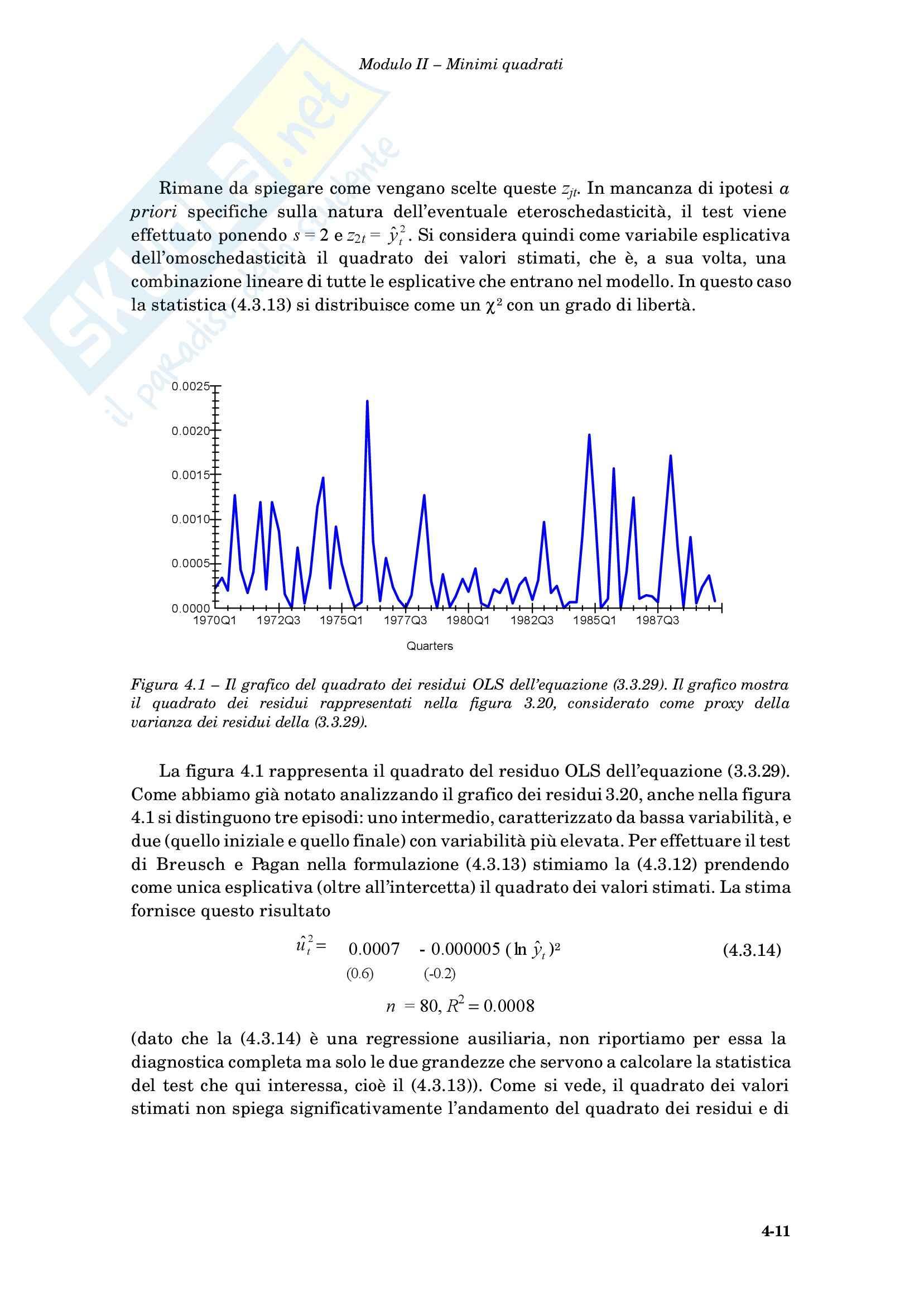 Econometria - i minimi quadrati generalizzati Pag. 11