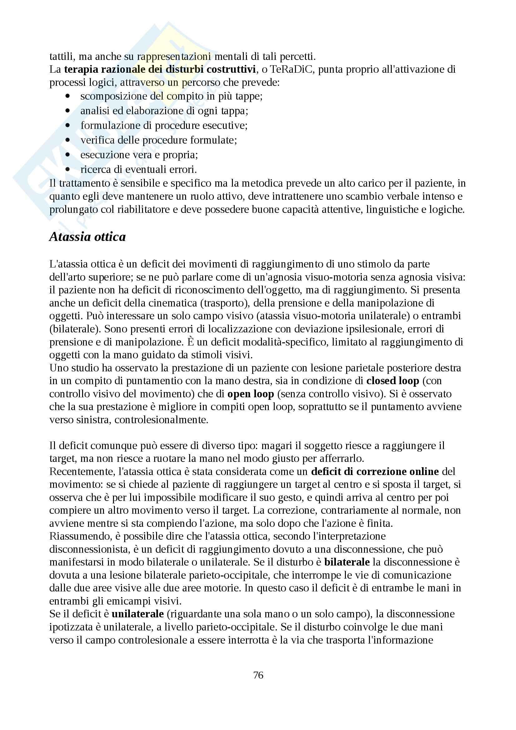 Lezioni, Neuropsicologia Pag. 76