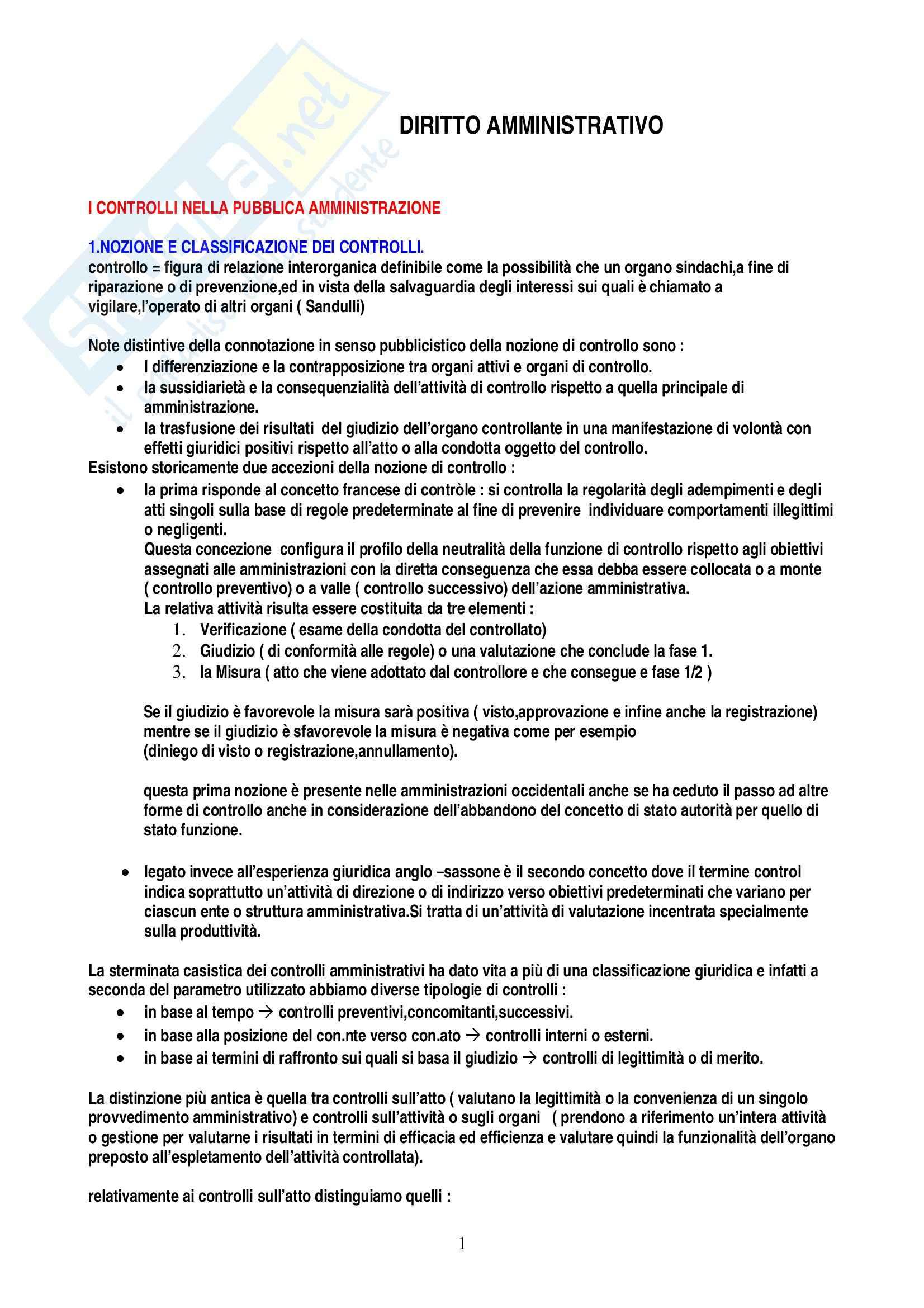 Riassunto esame Diritto amministrativo, prof. Casalini, libro consigliato Percorsi di diritto amministrativo, Garrone