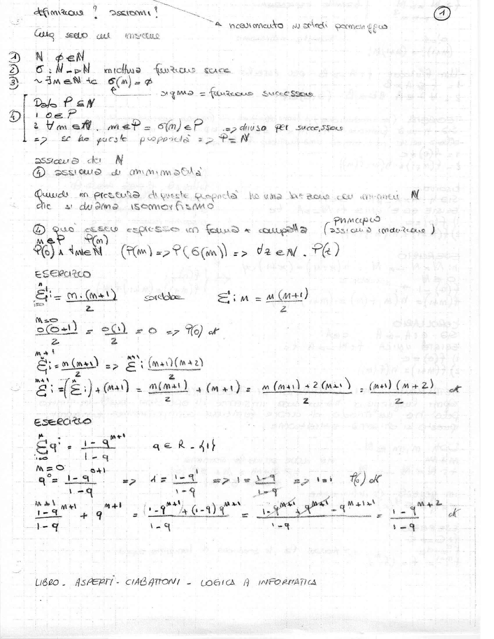 Logica e matematica discreta - Appunti