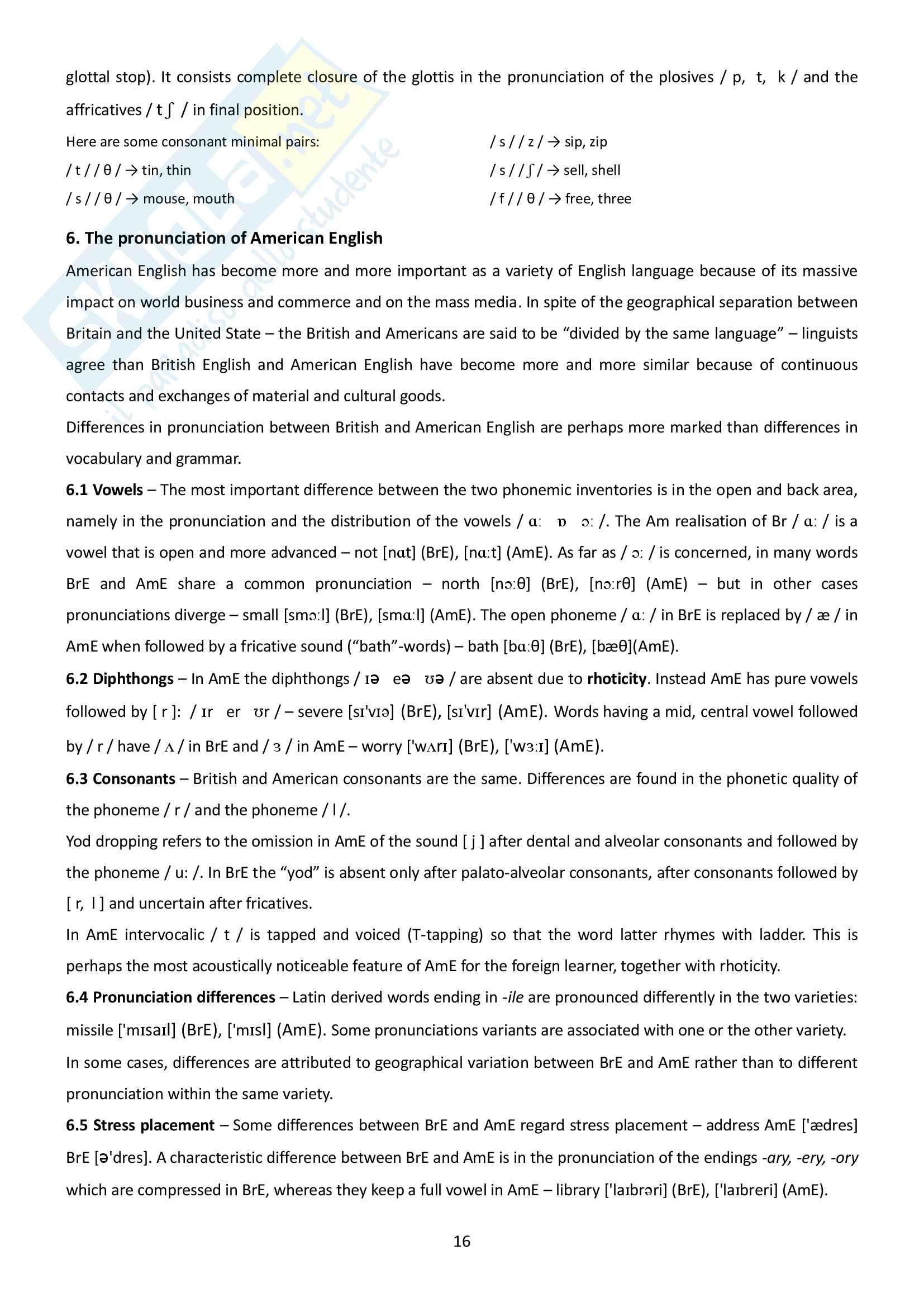 Riassunto esame Linguistica inglese, prof.ssa Maggioni, libro consigliato A handbook of presentday English, Pulcini Pag. 16