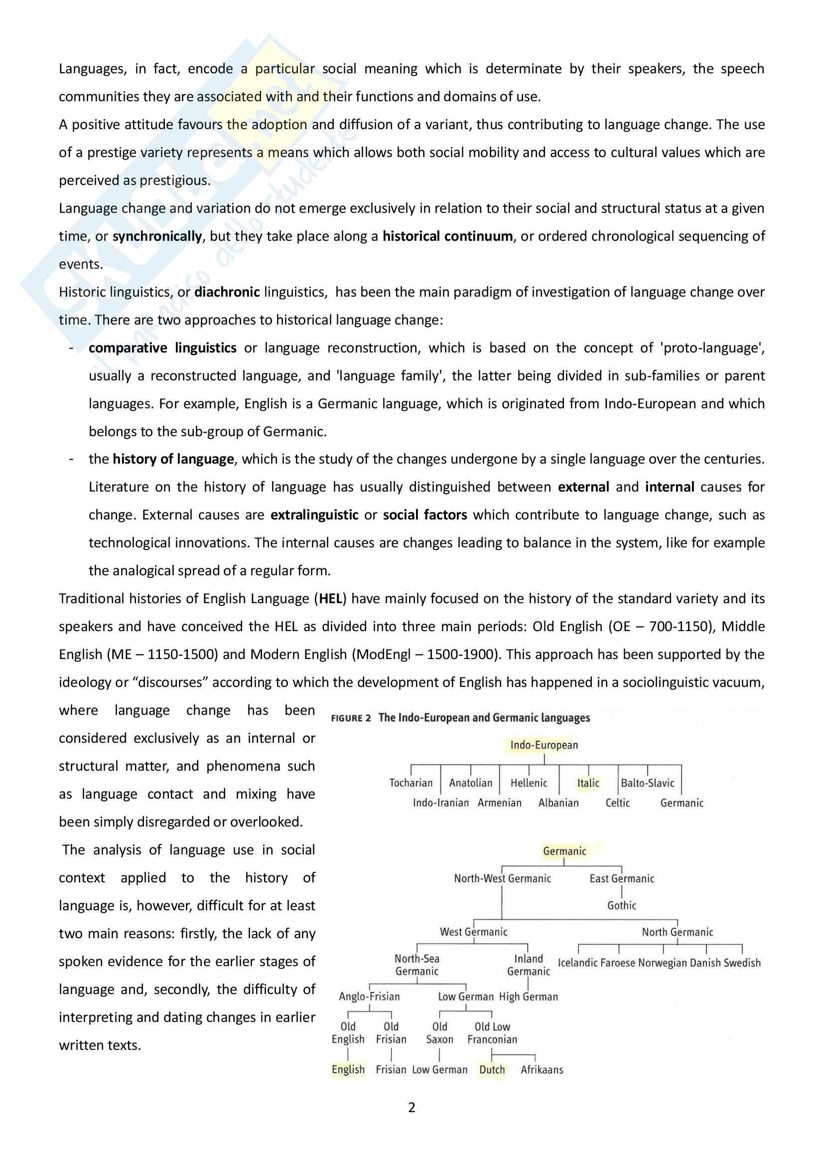 Riassunto esame Linguistica inglese, prof.ssa Maggioni, libro consigliato A handbook of presentday English, Pulcini Pag. 2