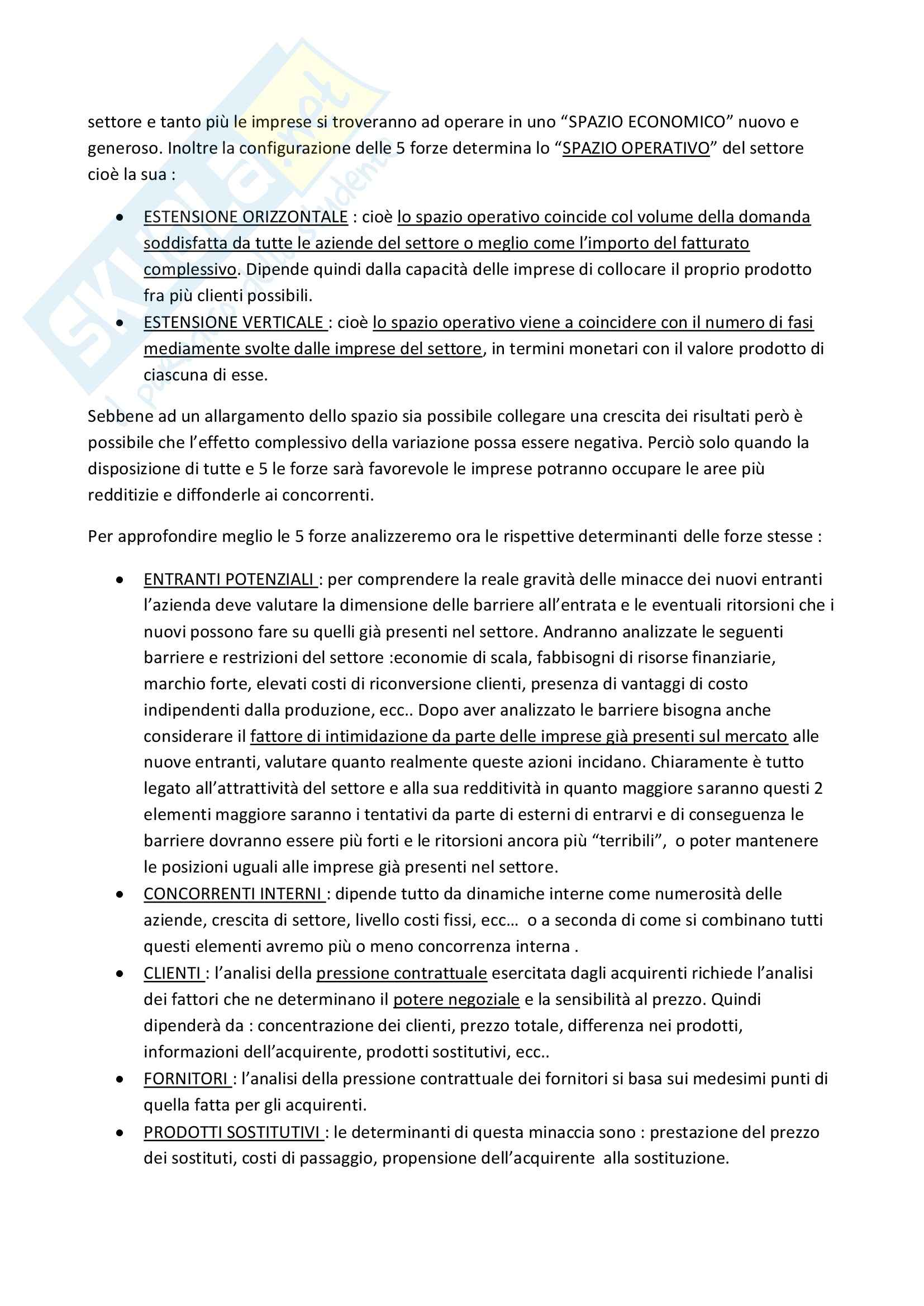 Riassunto esame Strategia e Governo d'Azienda, prof. Marinò, libro consigliato Strategia Aziendale e Vantaggio Competitivo, Bertini, Invernizzi Pag. 11