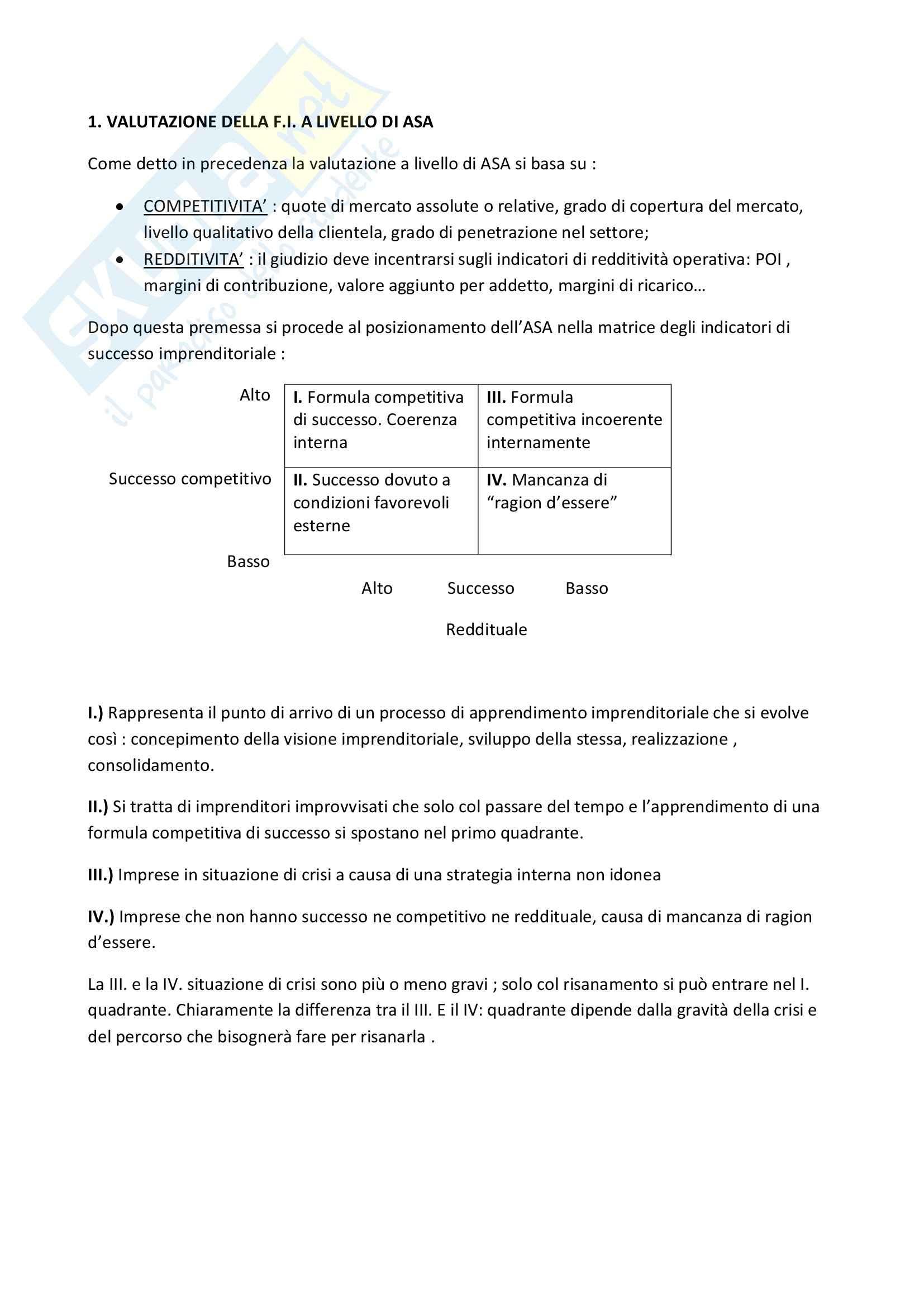 Riassunto esame Strategia e Governo d'Azienda, prof. Marinò, libro consigliato Strategia Aziendale e Vantaggio Competitivo, Bertini, Invernizzi Pag. 6
