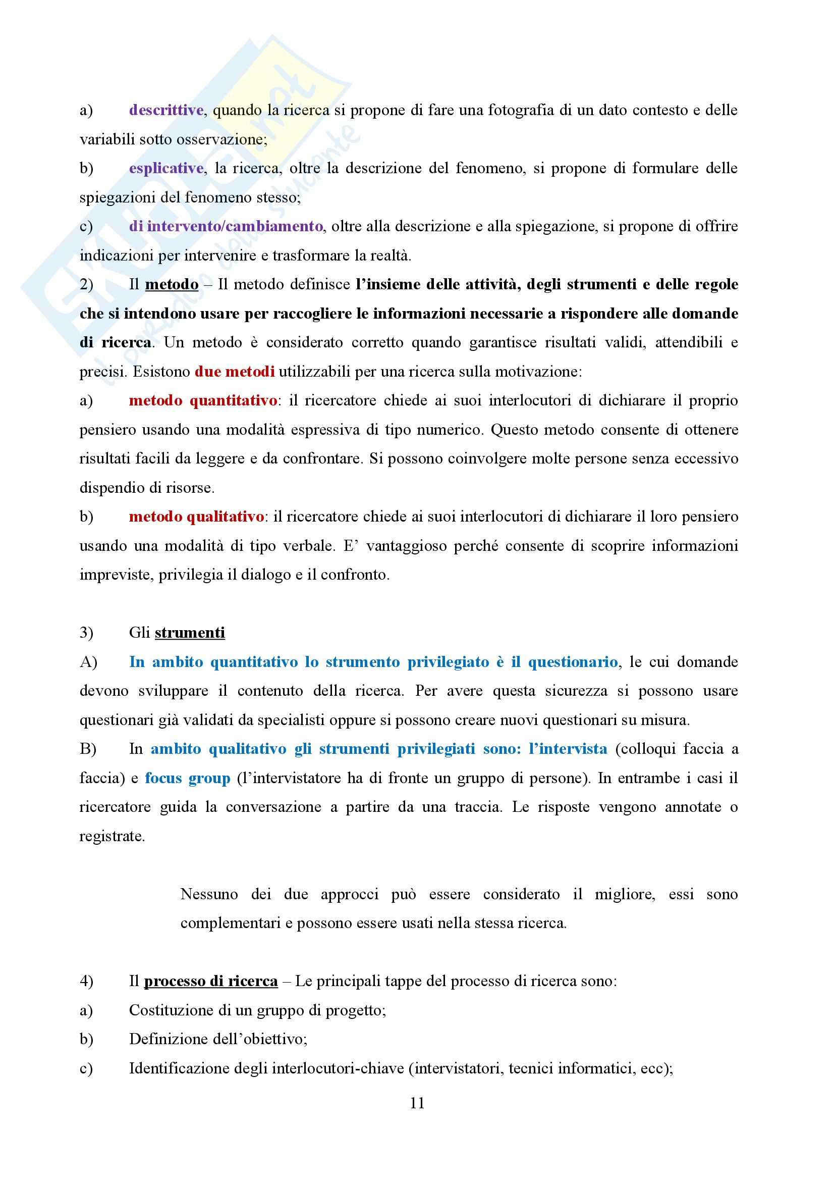 Riassunto esame Organizzazione aziendale, prof. Nacamulli, libro consigliato Motivare, Cortese Pag. 11