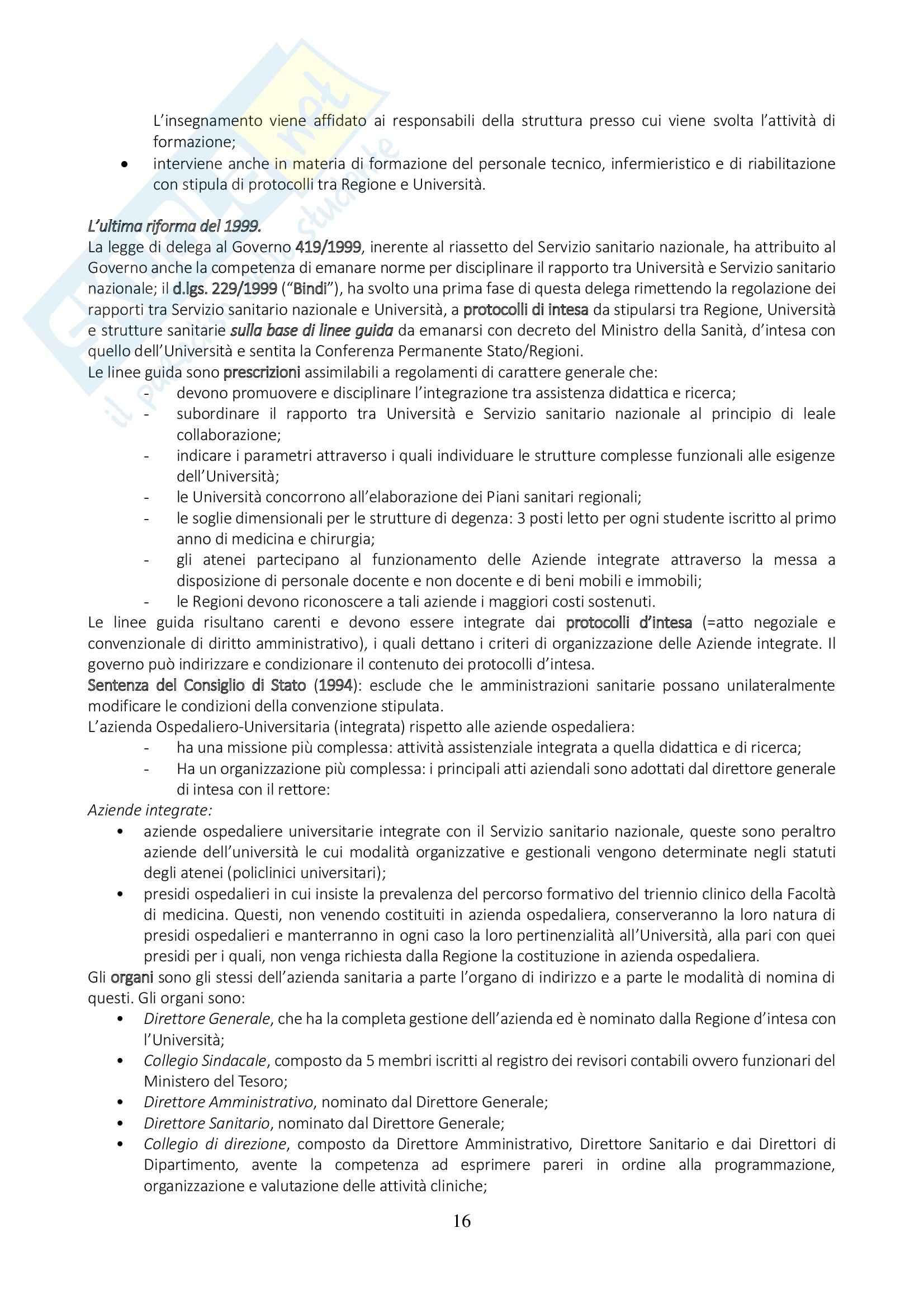 Tutela della salute ed organizzazione sanitaria nazionale e regionale, Diritto sanitario Pag. 16
