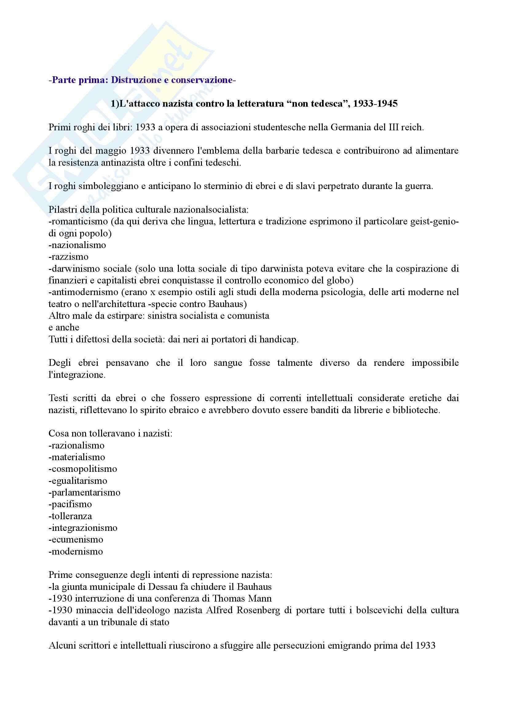 Riassunto esame Storia del libro e dei Sistemi Editoriali, prof. Braida, libro consigliato Il Libro nella Shoah di Rose, Bonnard