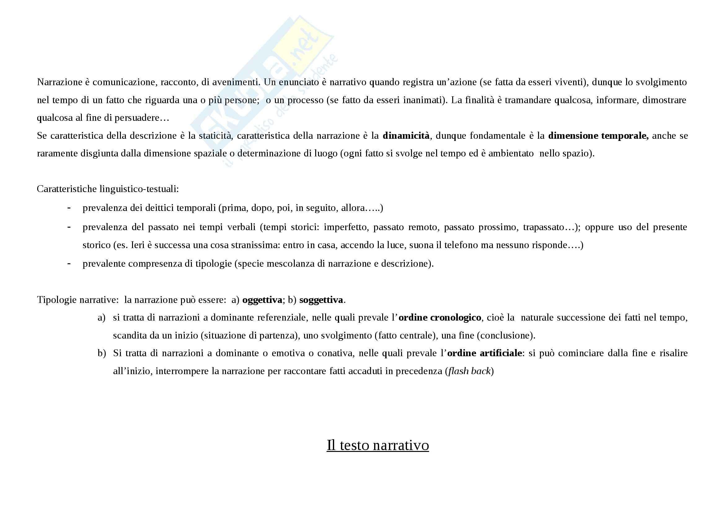 Tecniche espressive e tipologie dei testi - Appunti Pag. 16