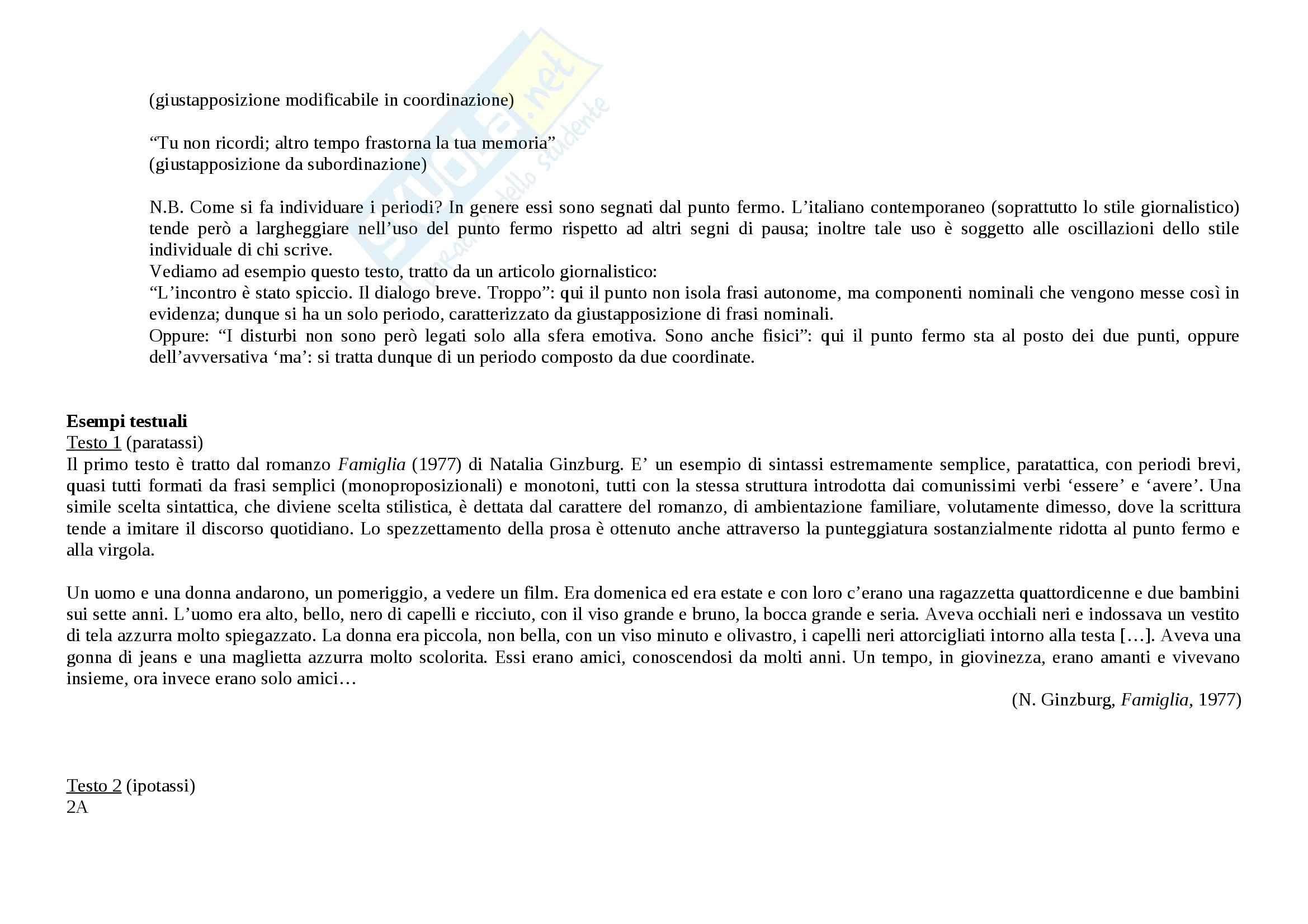 Tecniche espressive e tipologie dei testi - Appunti Pag. 26