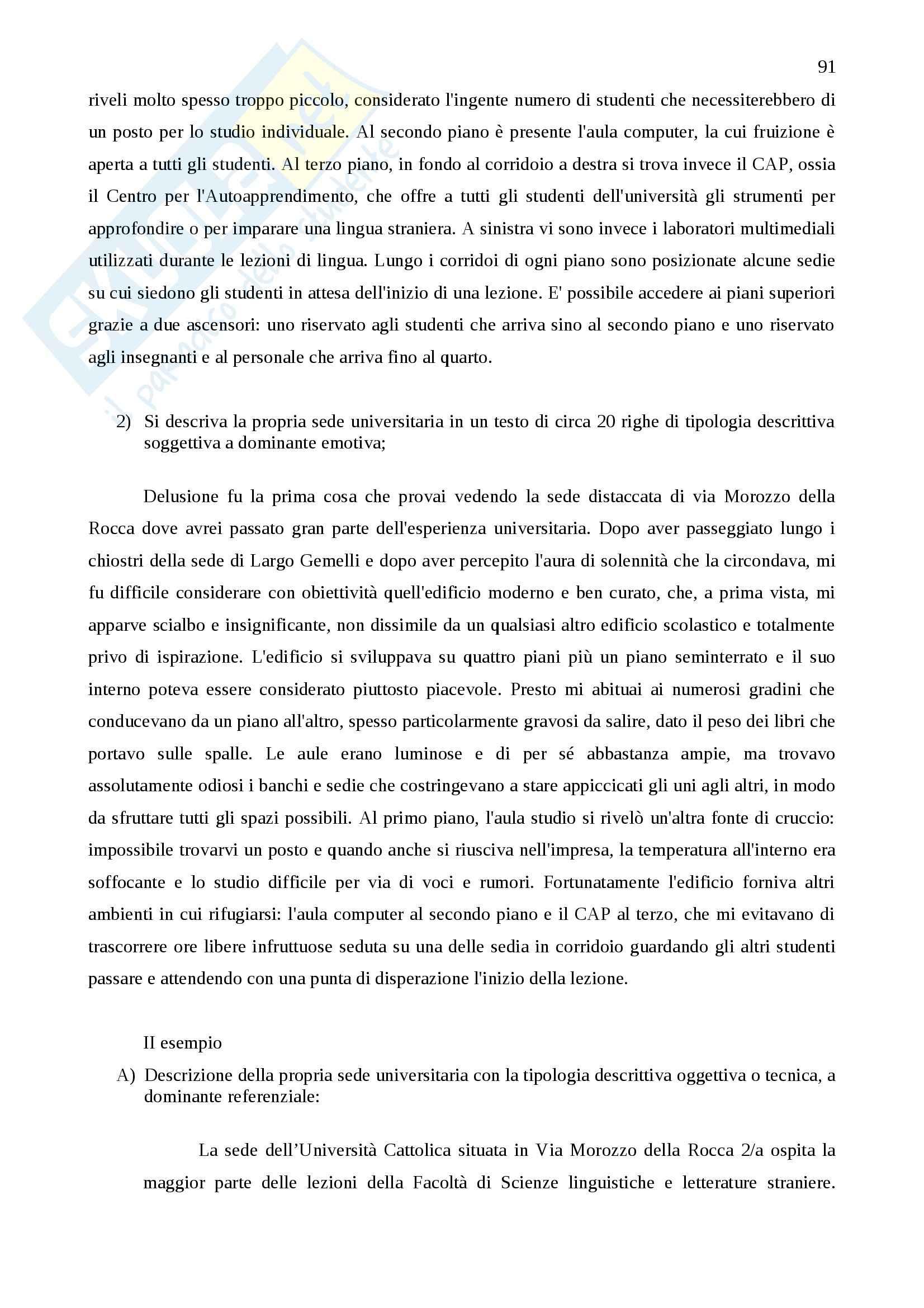 Tecniche espressive e tipologie dei testi - Appunti Pag. 91